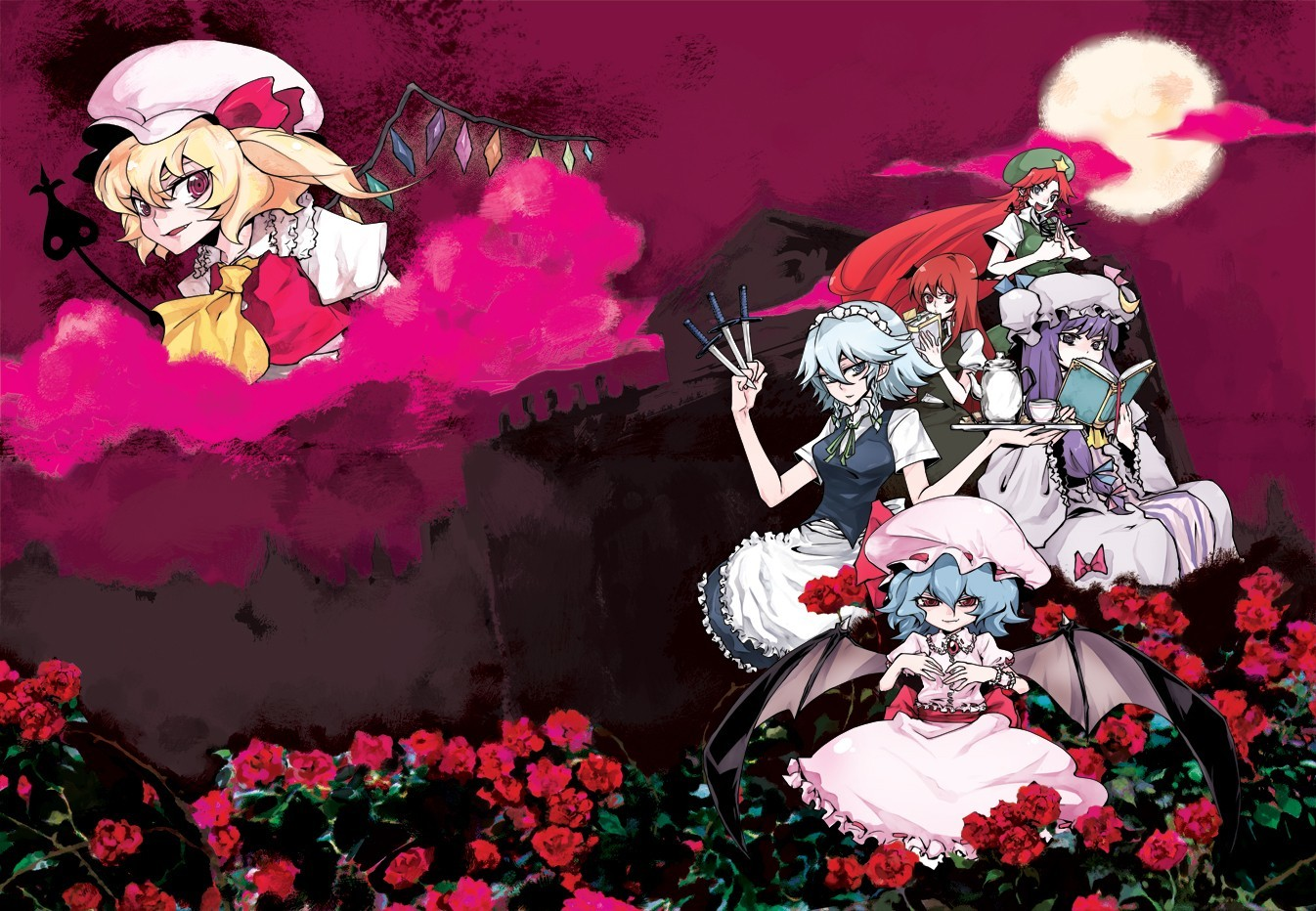video games touhou izayoi HD Wallpaper