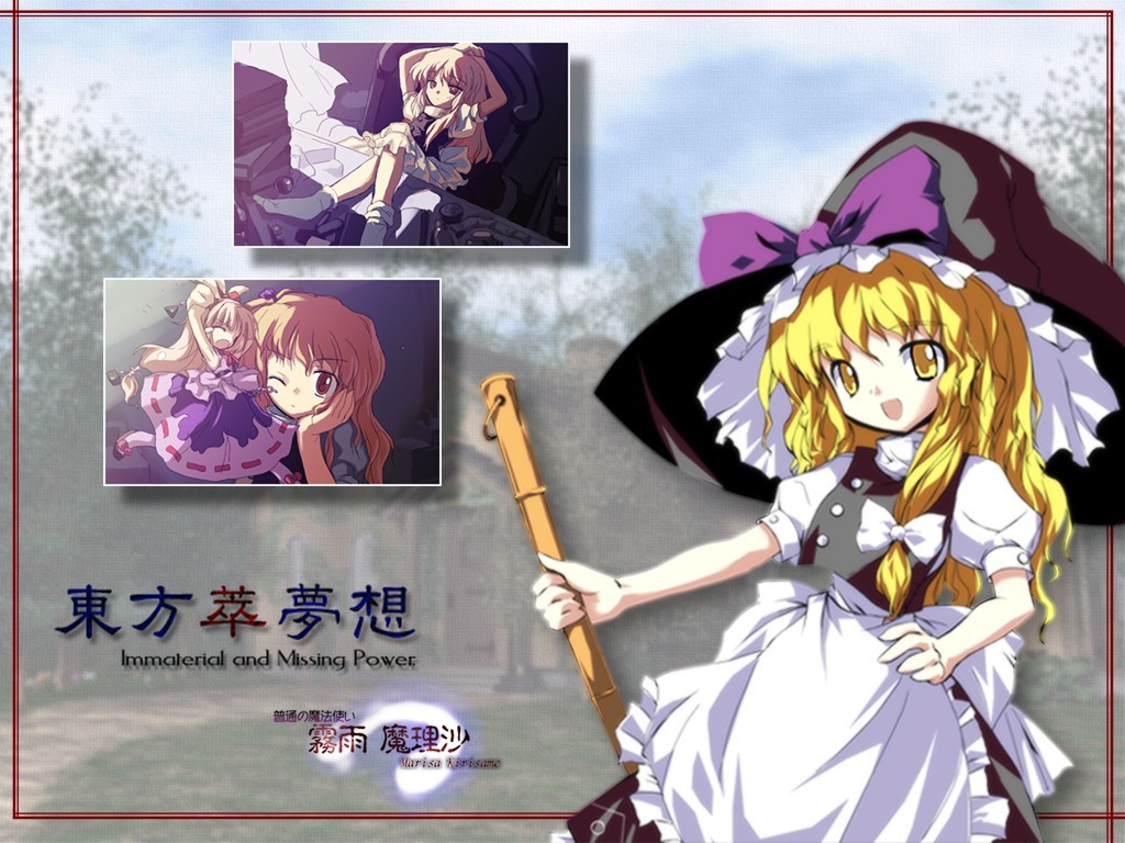video games touhou Oni HD Wallpaper