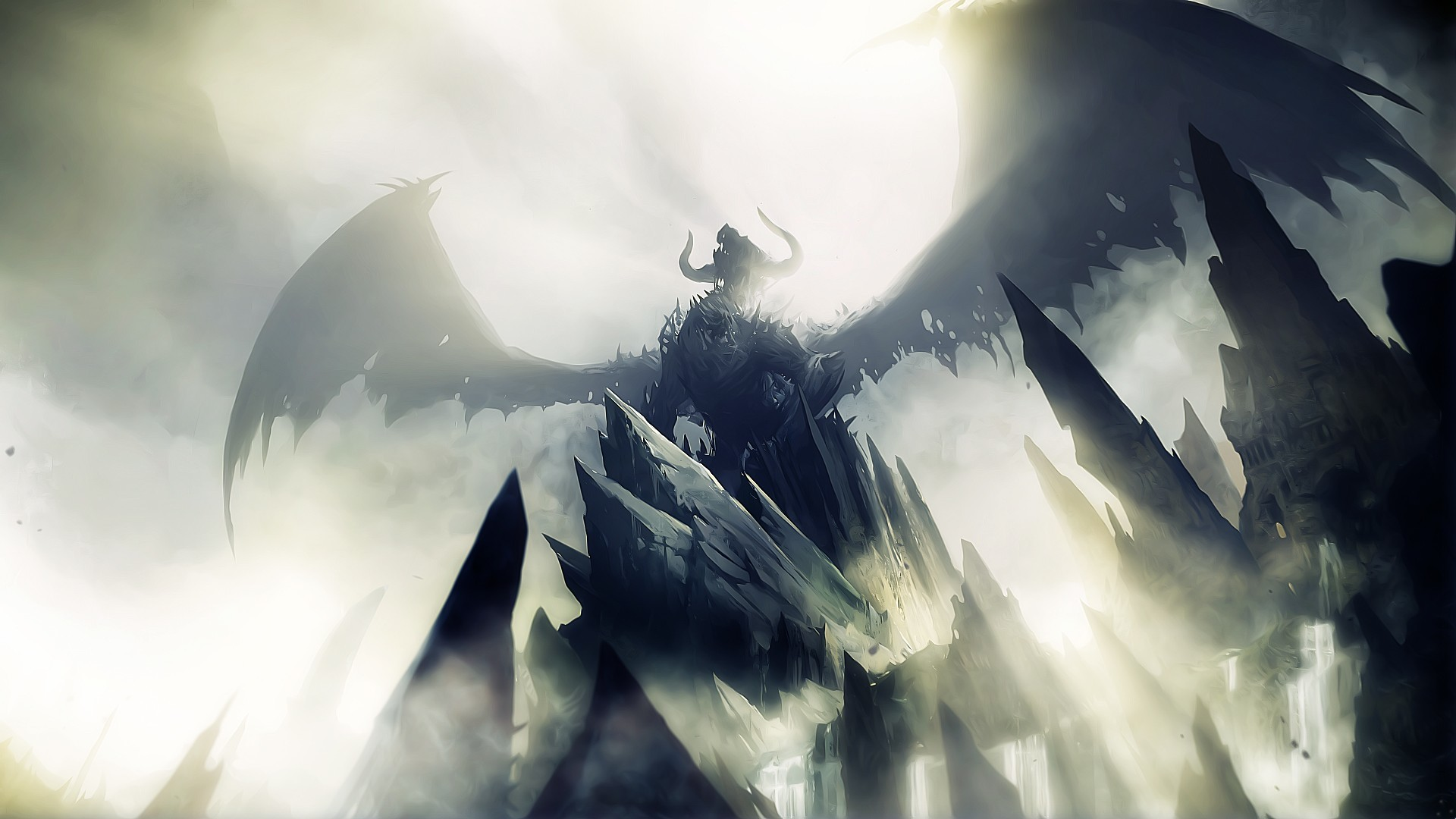 video games wings Dragons HD Wallpaper
