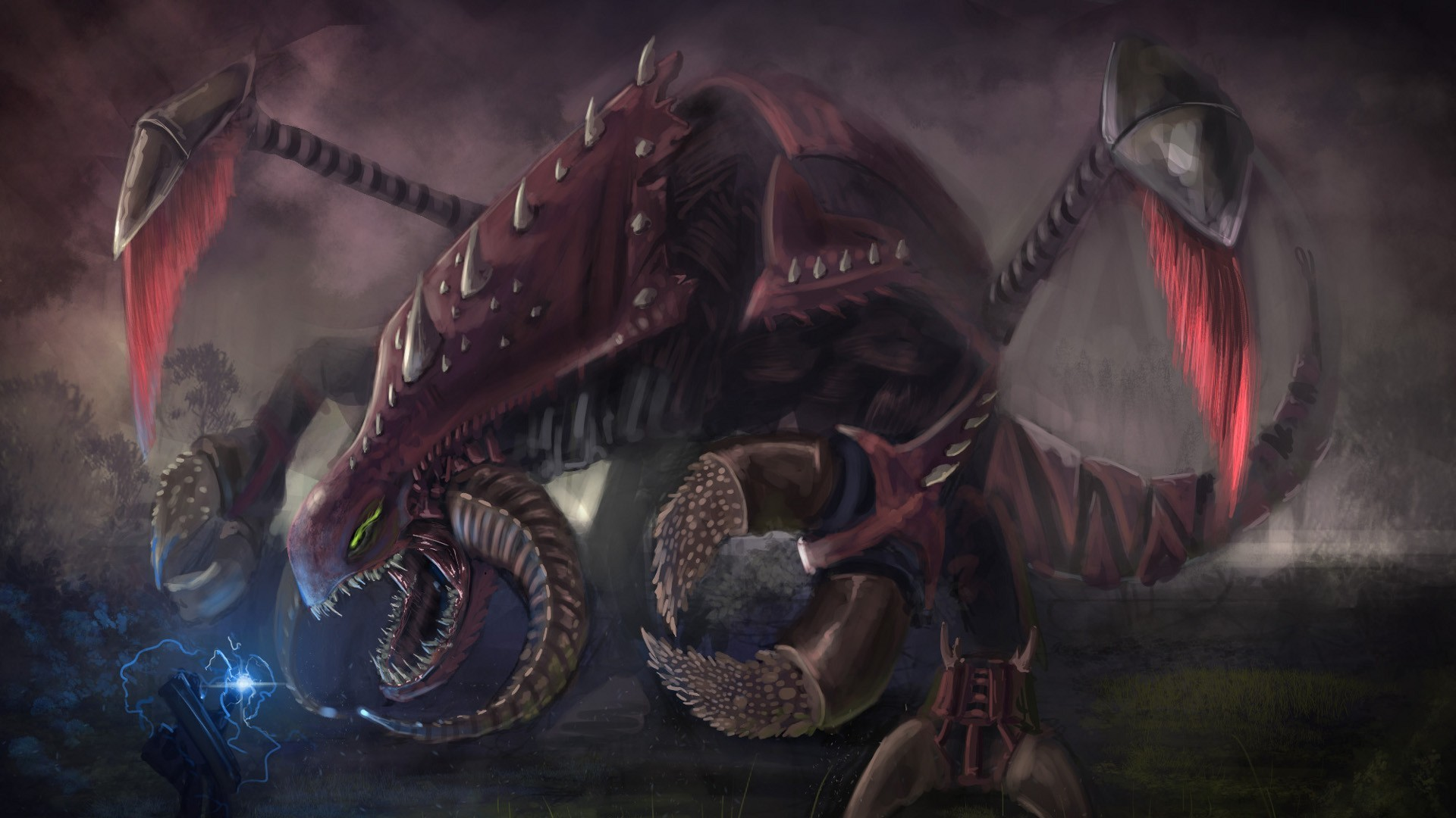 video games Zerg digital HD Wallpaper