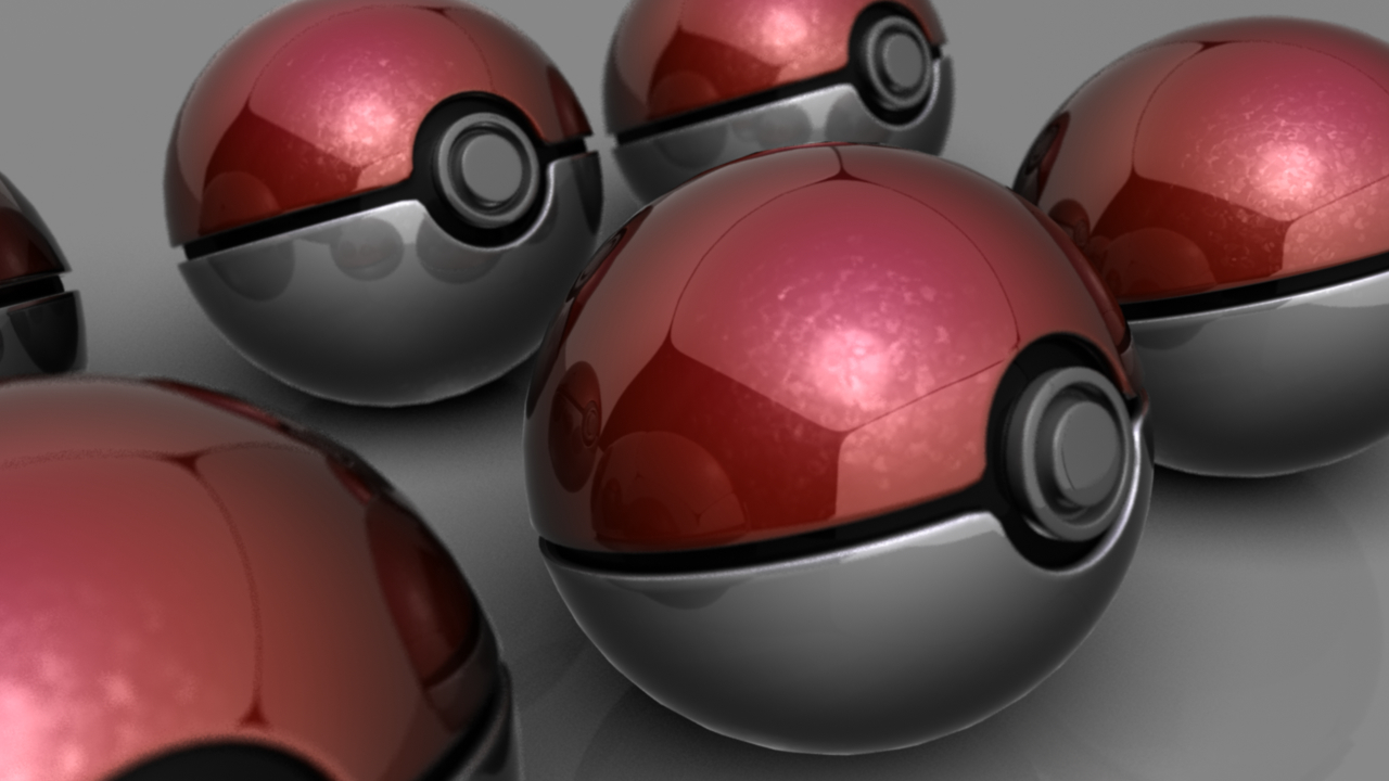 view Pokemon Poke balls HD Wallpaper