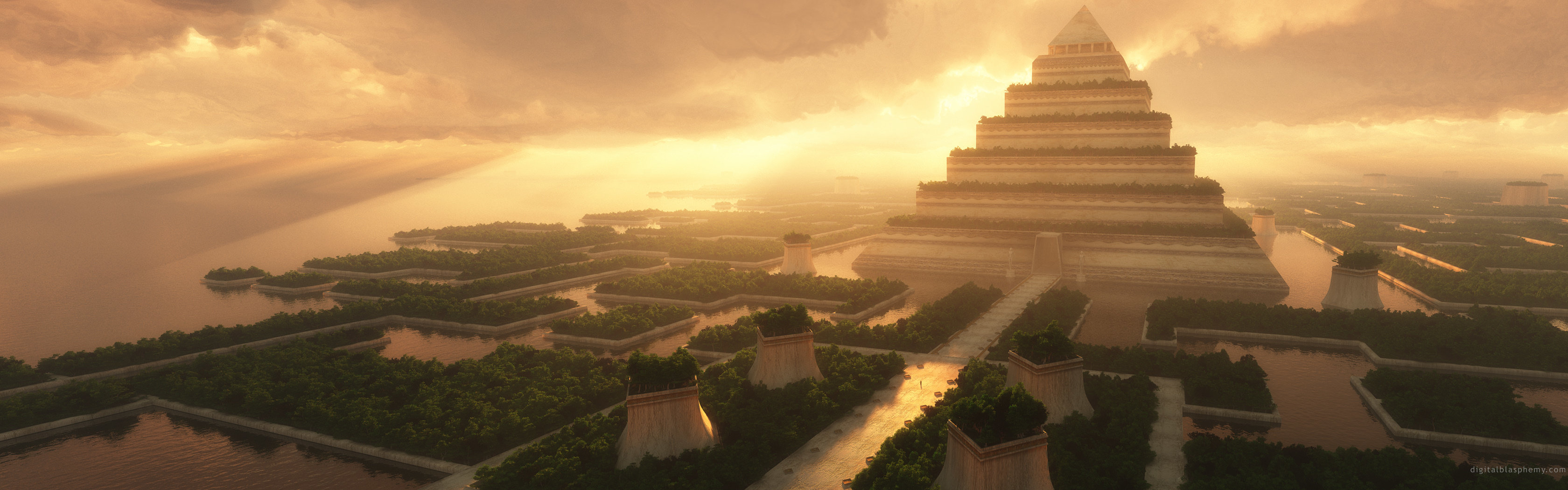 view Temples aztec pyramids HD Wallpaper