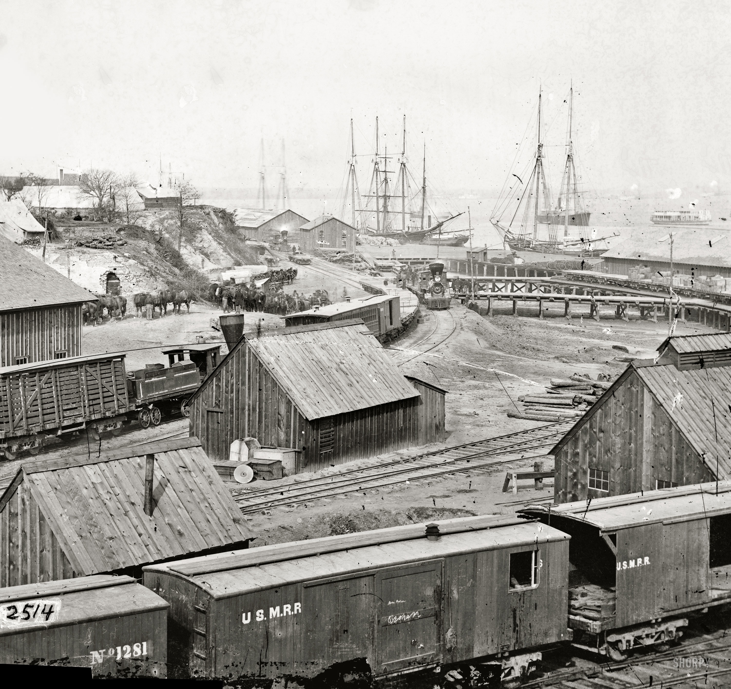 Virginia railroad yard and HD Wallpaper