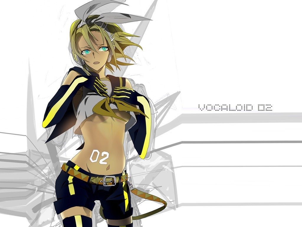 vocaloid gloves kagamine rin HD Wallpaper