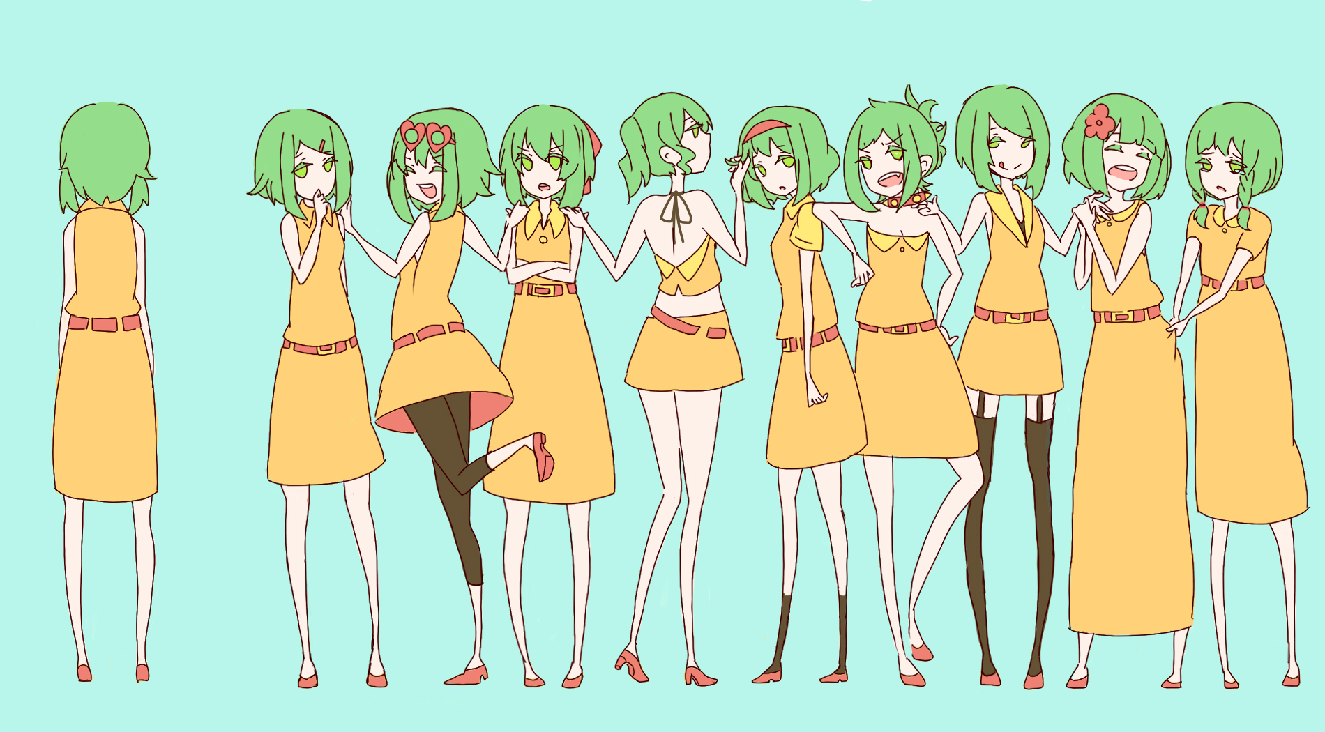 vocaloid green hair Megpoid HD Wallpaper