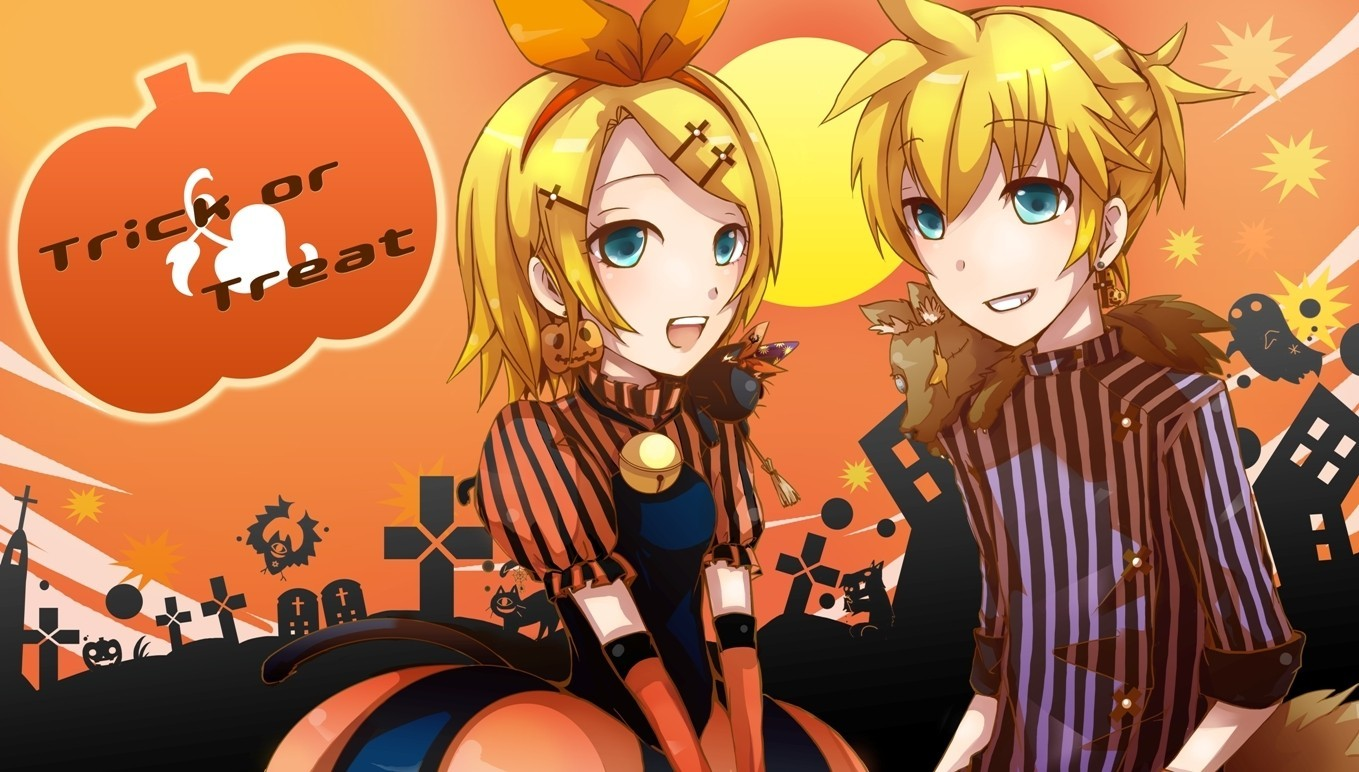 vocaloid Halloween kagamine rin HD Wallpaper