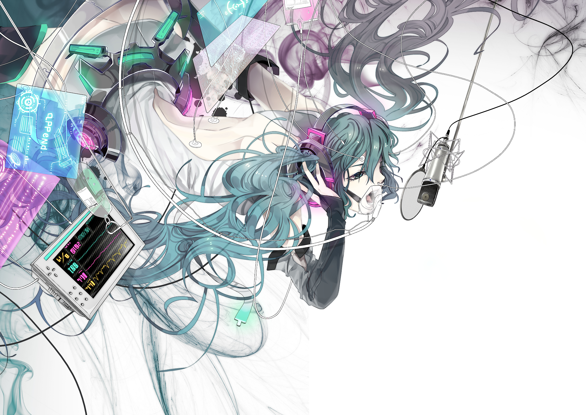 vocaloid hatsune miku append HD Wallpaper