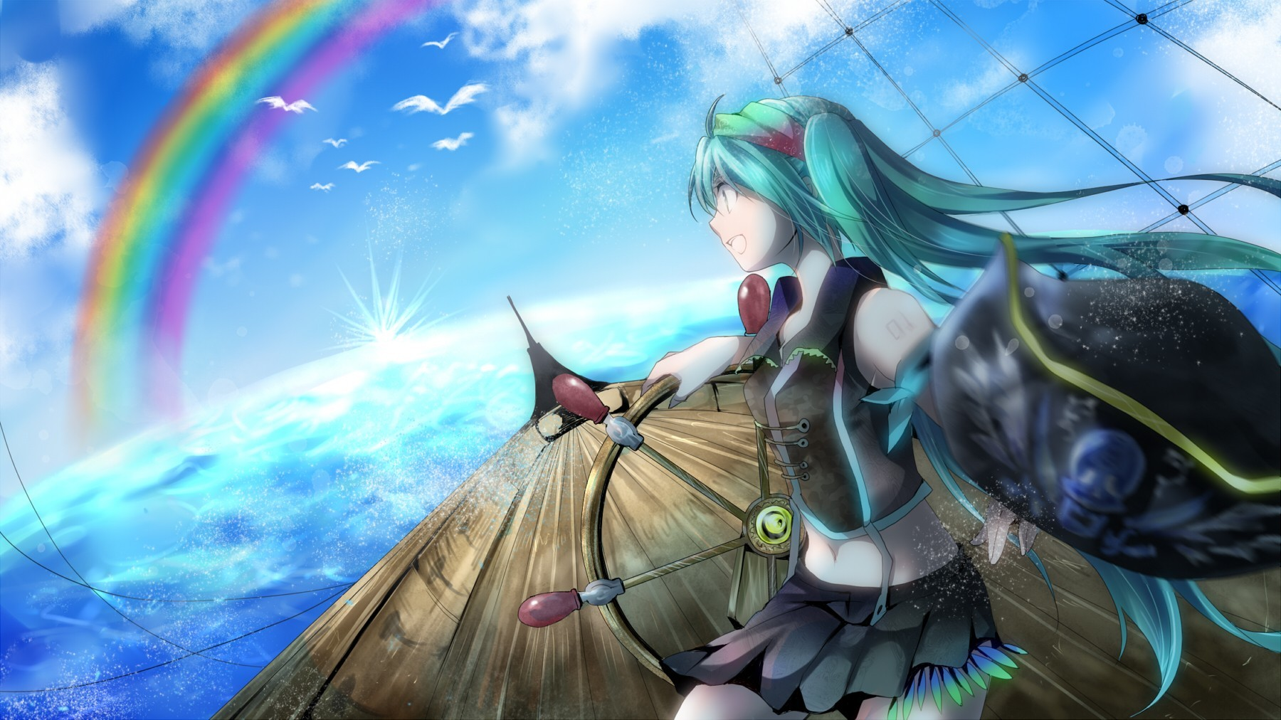 vocaloid hatsune miku Birds HD Wallpaper