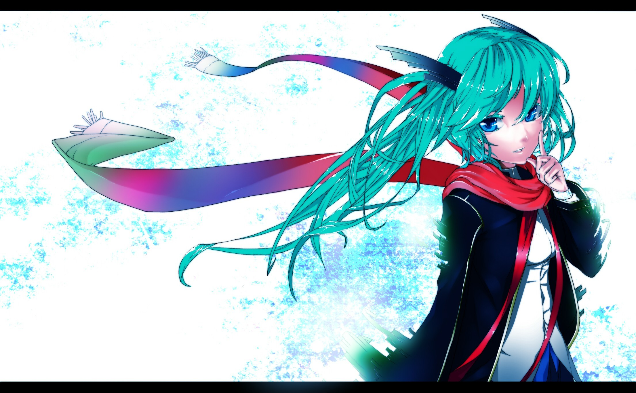vocaloid hatsune miku blue HD Wallpaper