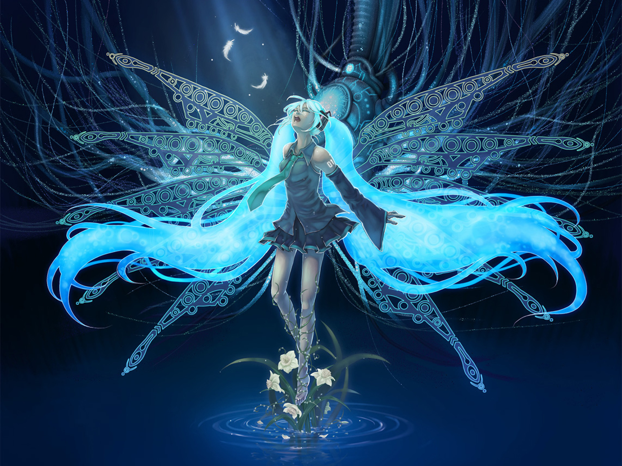 vocaloid hatsune miku detached HD Wallpaper