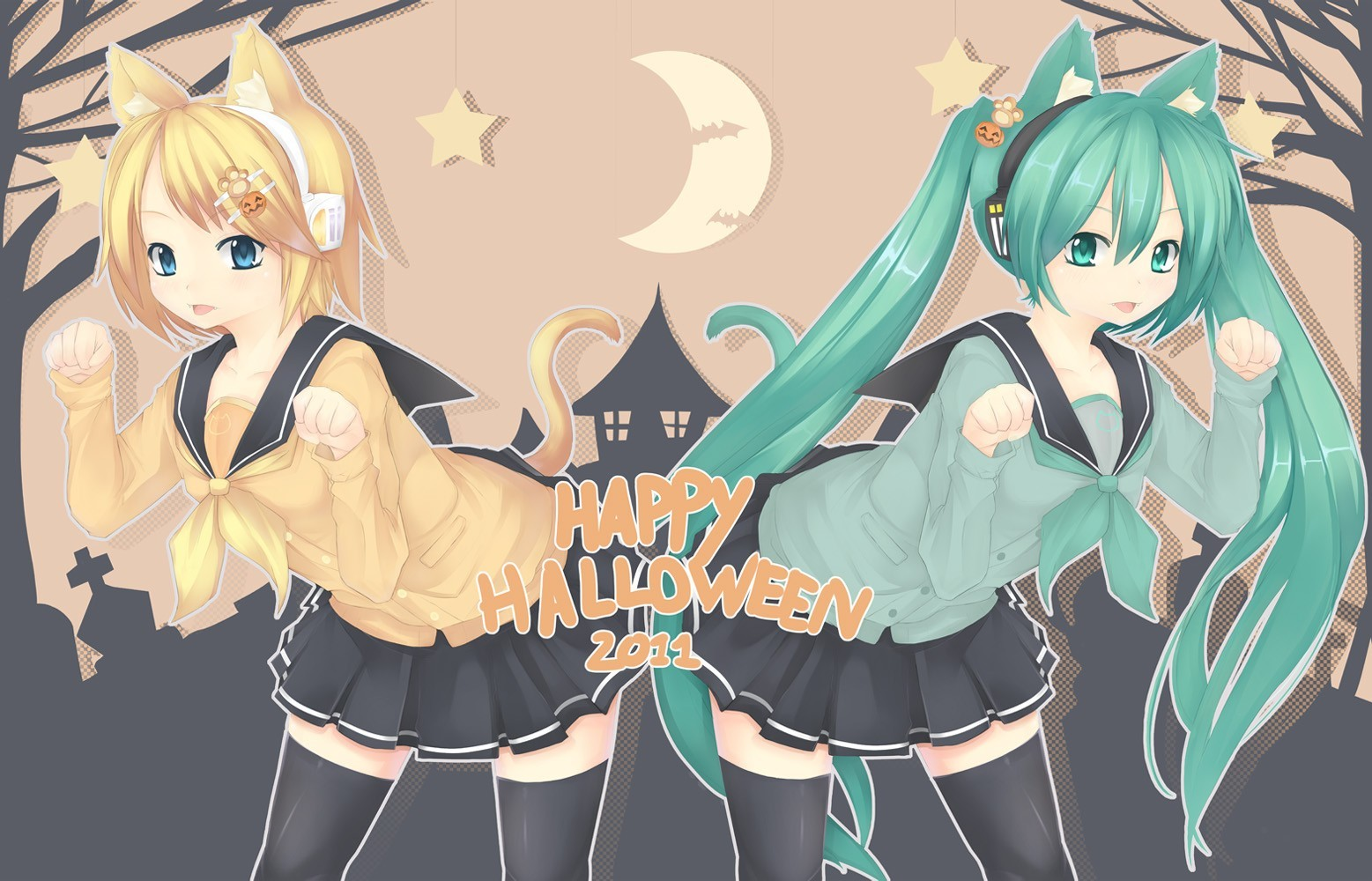 vocaloid hatsune miku Halloween HD Wallpaper
