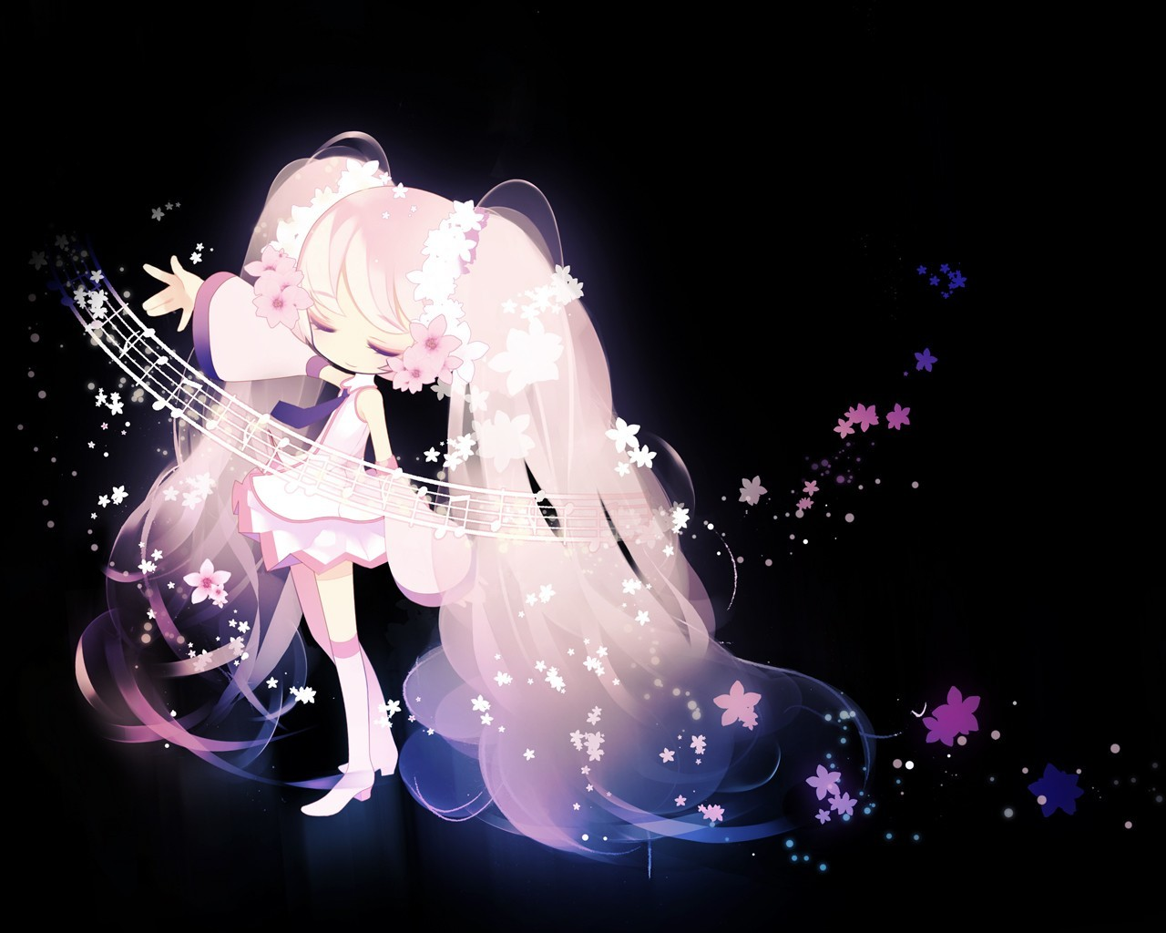 vocaloid hatsune miku pink HD Wallpaper