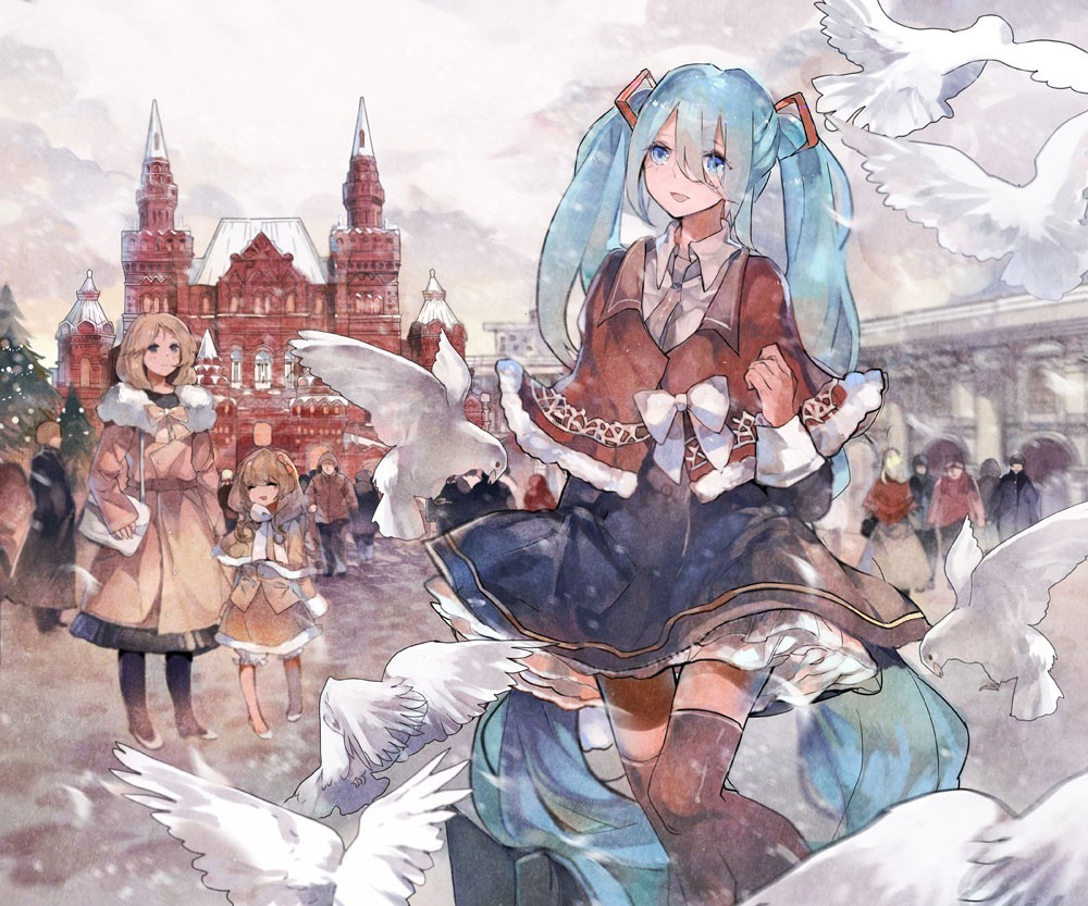 vocaloid hatsune miku Russia HD Wallpaper