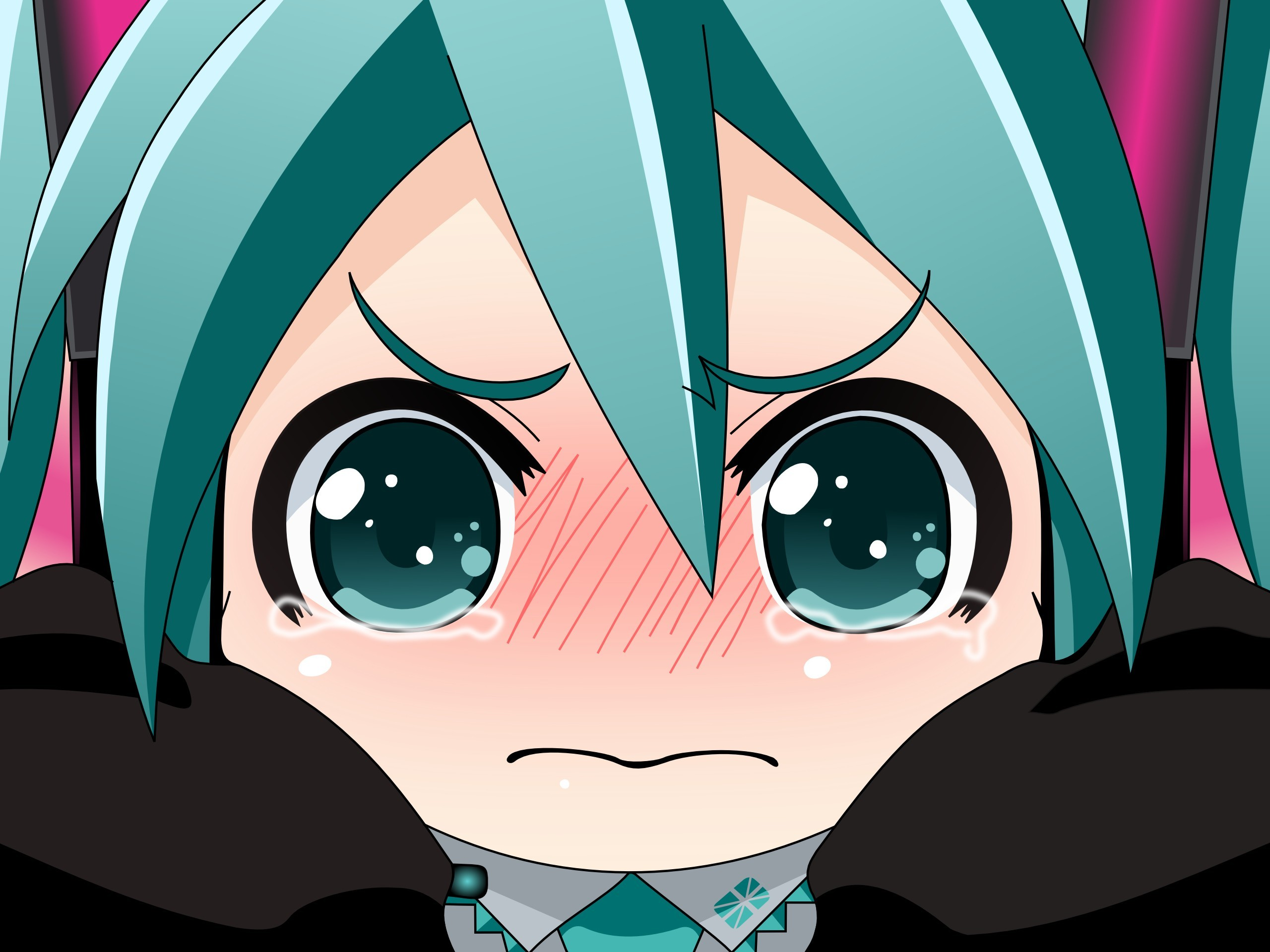 vocaloid hatsune miku tears HD Wallpaper