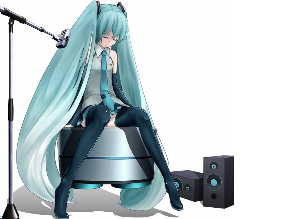 vocaloid hatsune miku tie HD Wallpaper