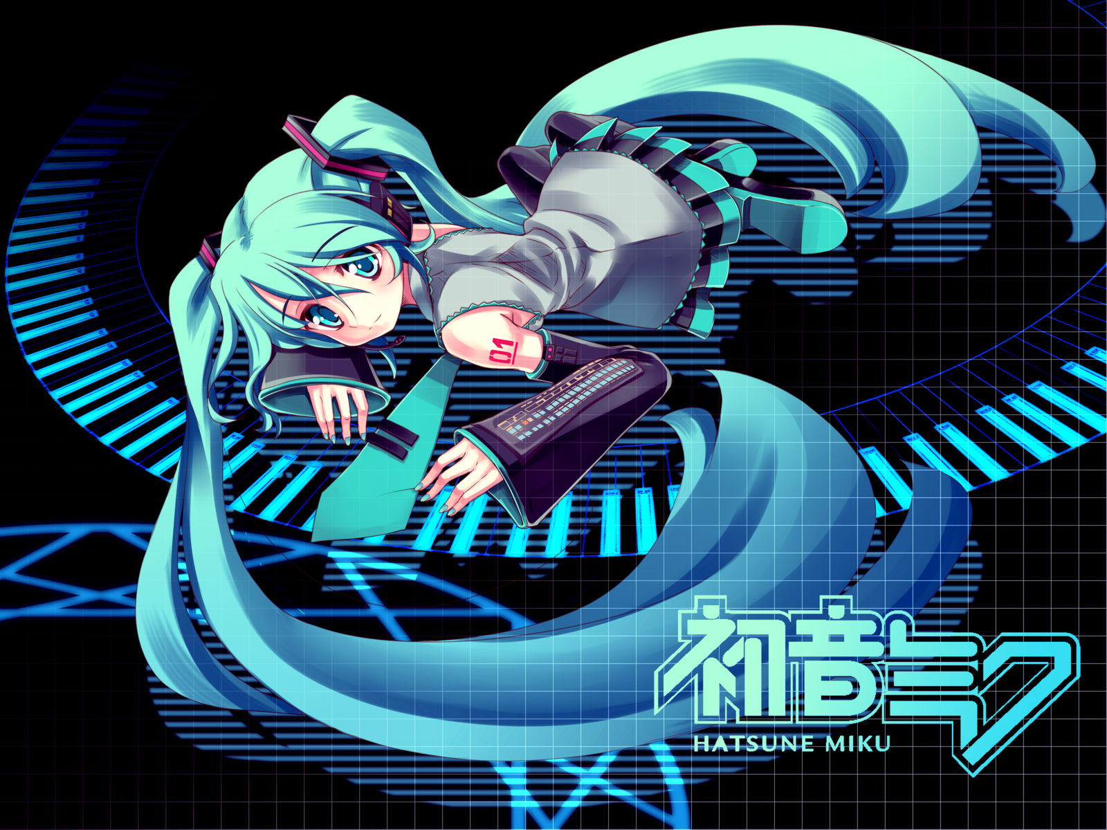 vocaloid hatsune miku twintails
