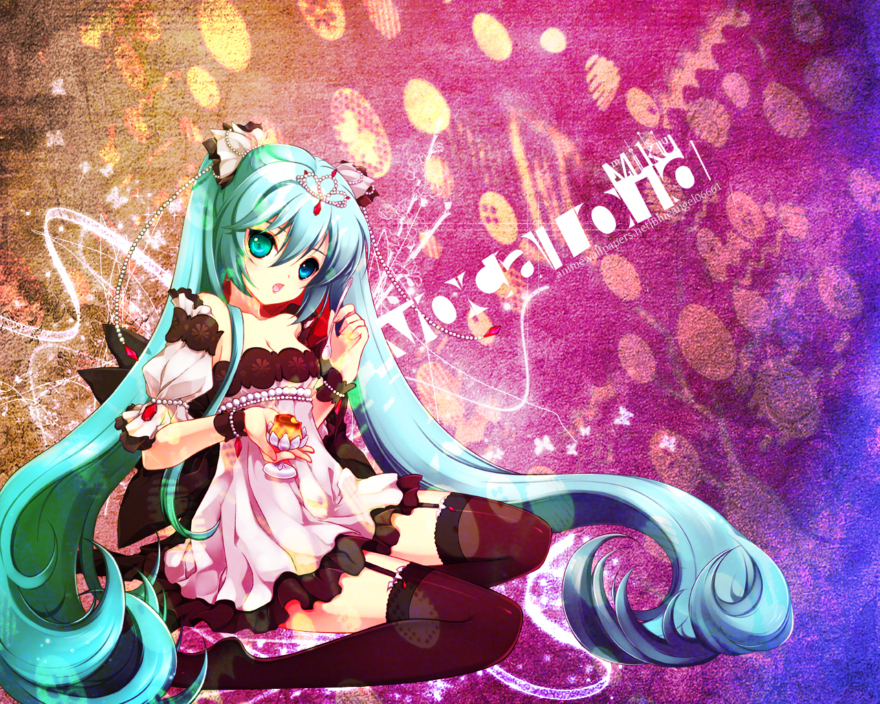 vocaloid hatsune miku twintails HD Wallpaper