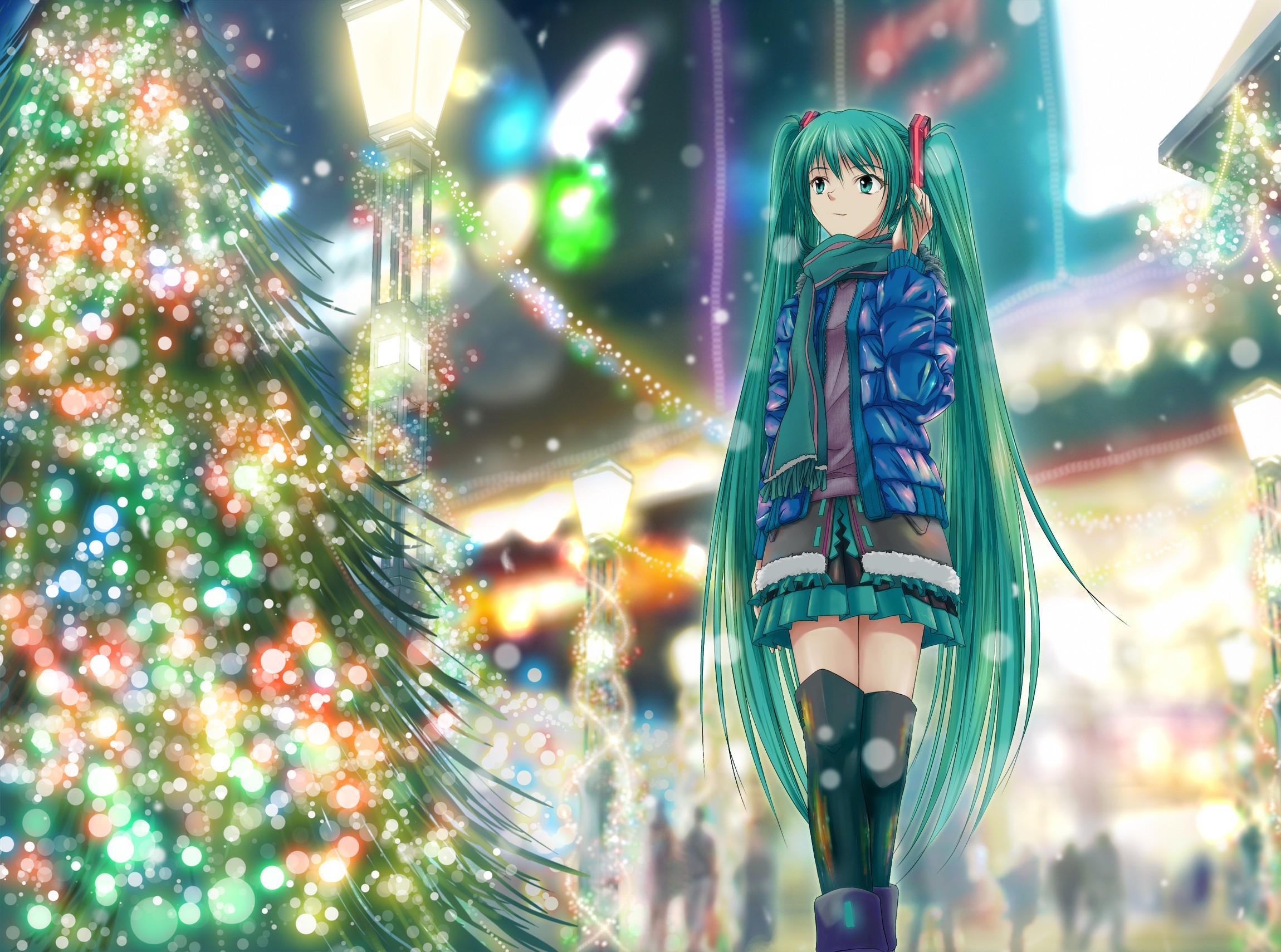 vocaloid lights hatsune miku HD Wallpaper
