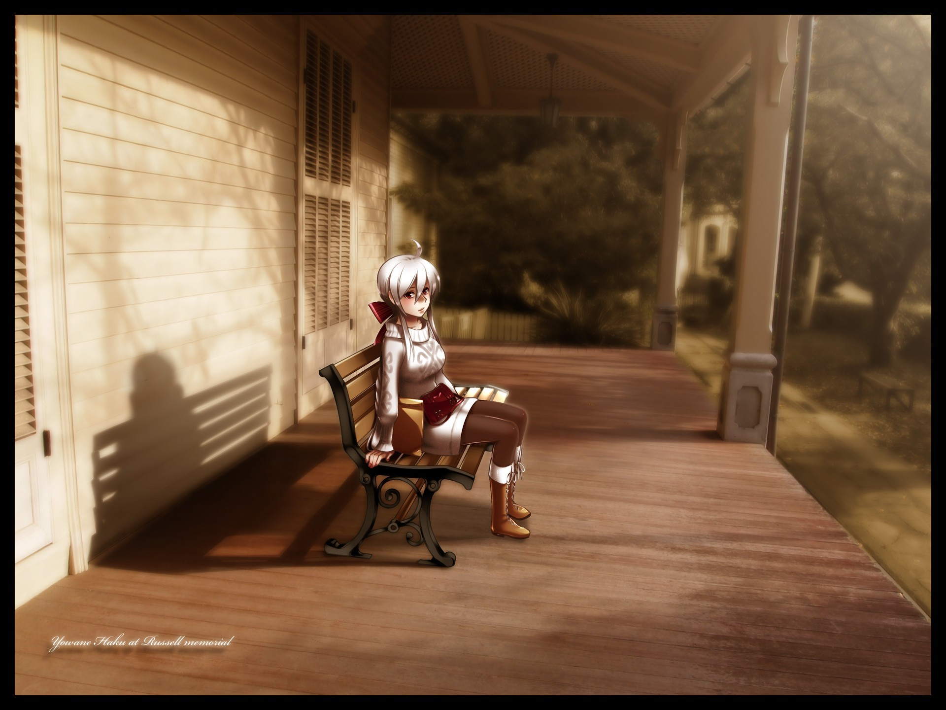 vocaloid white hair yowane HD Wallpaper