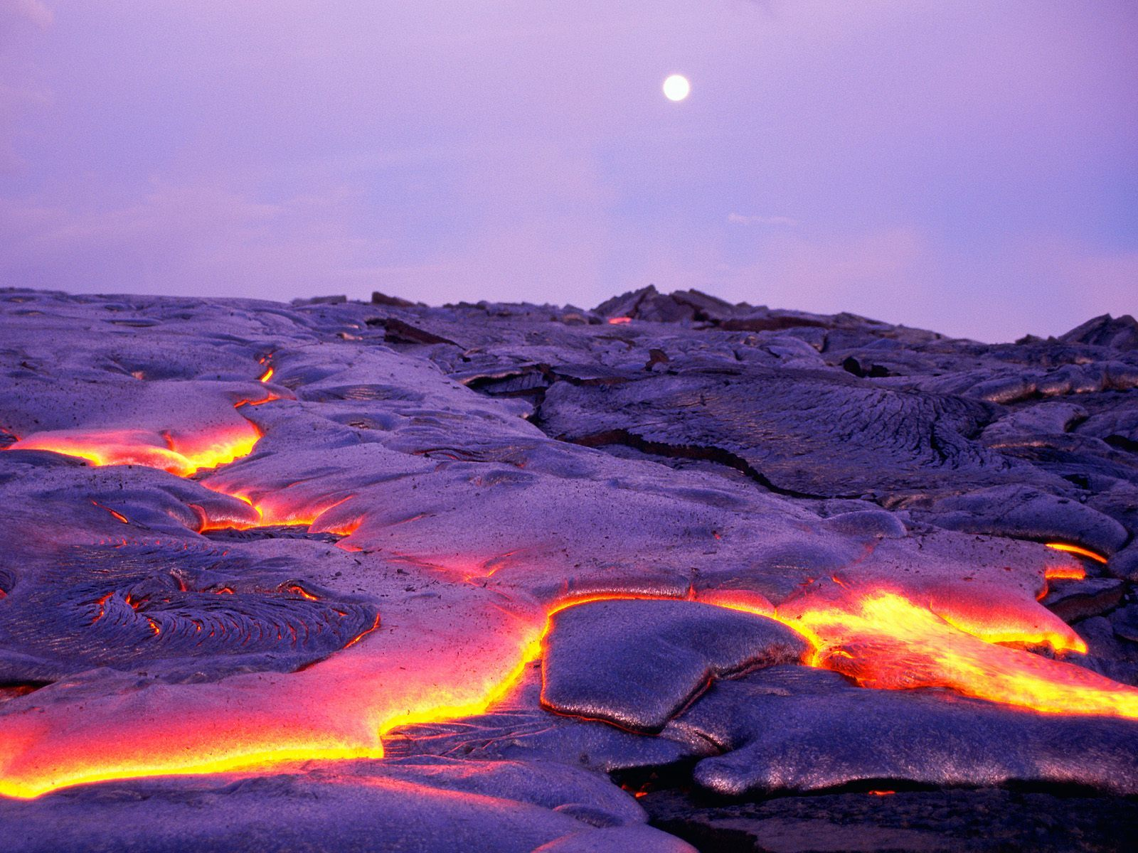Volcanoes lava Hawaii national HD Wallpaper