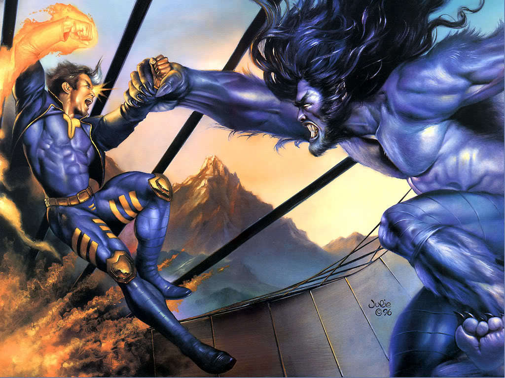 vs dark Beast man HD Wallpaper