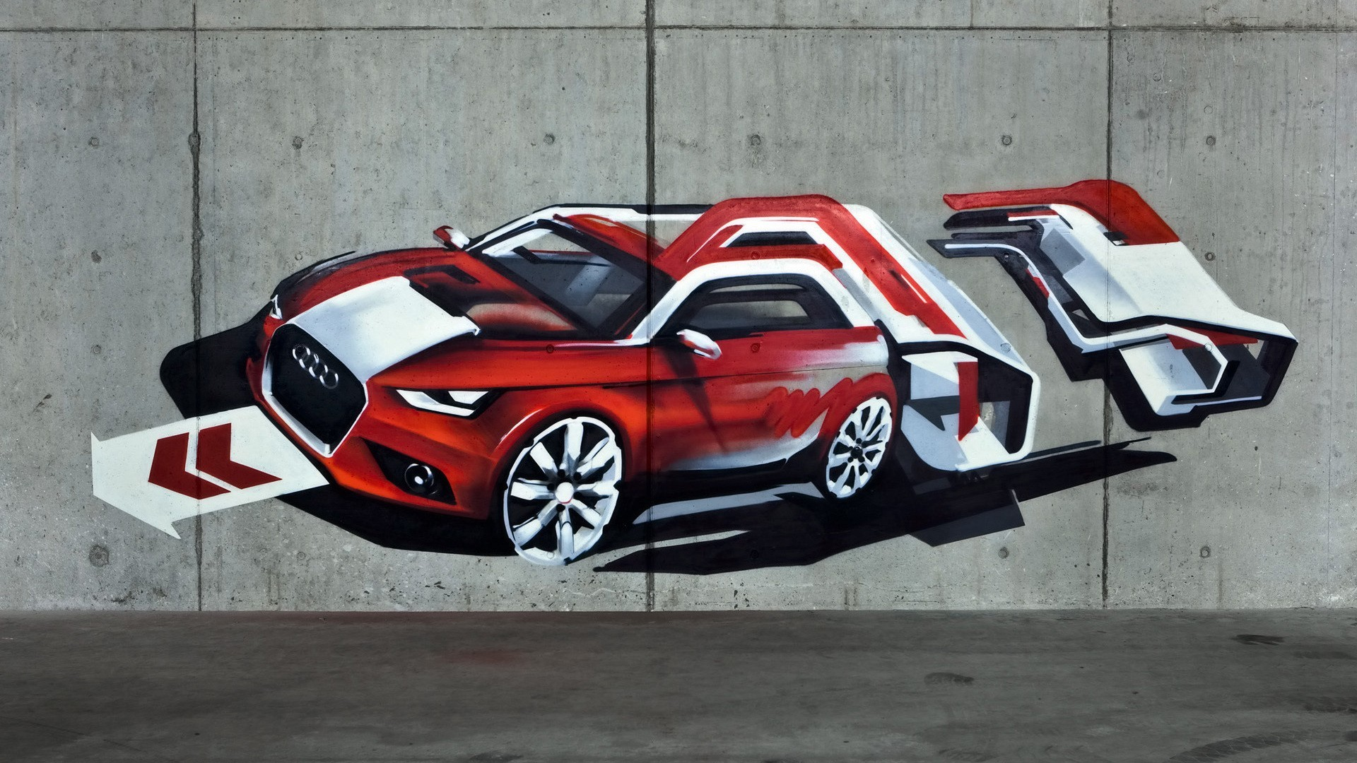 wall cars graffiti HD Wallpaper