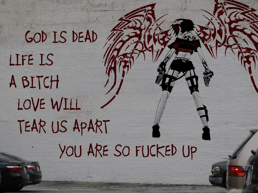wall text graffiti Guns wings Art street HD Wallpaper