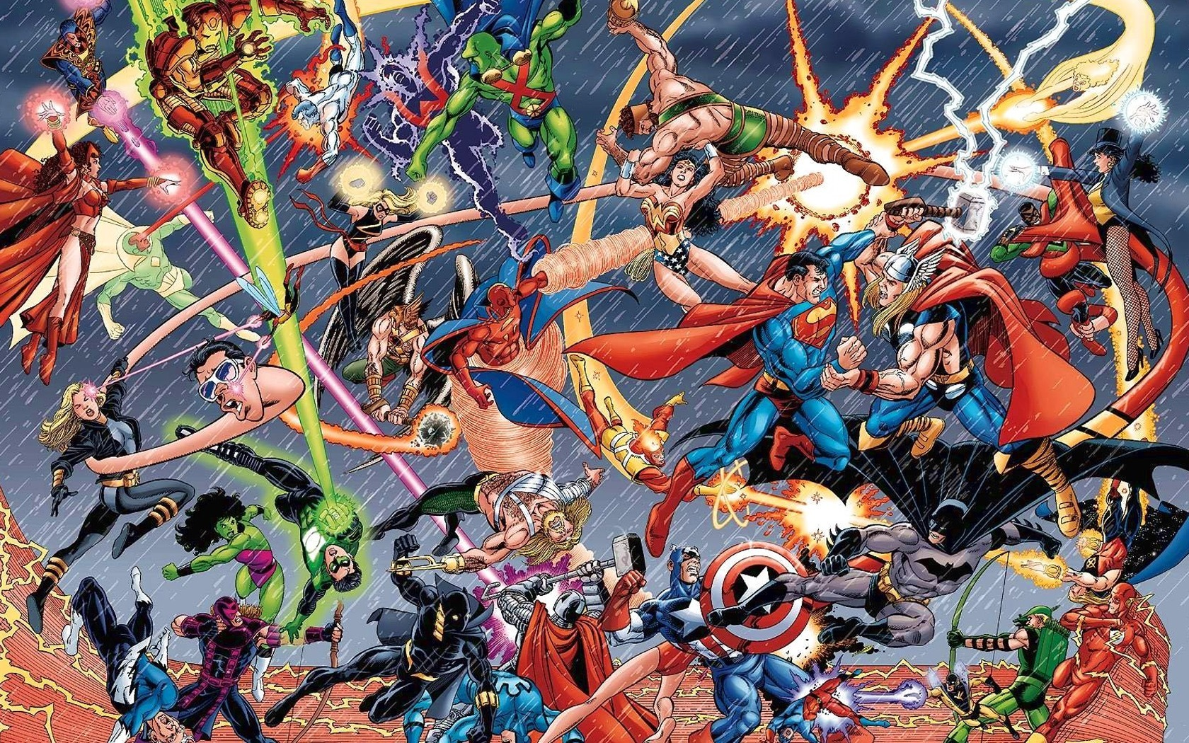 War dc comics battles HD Wallpaper