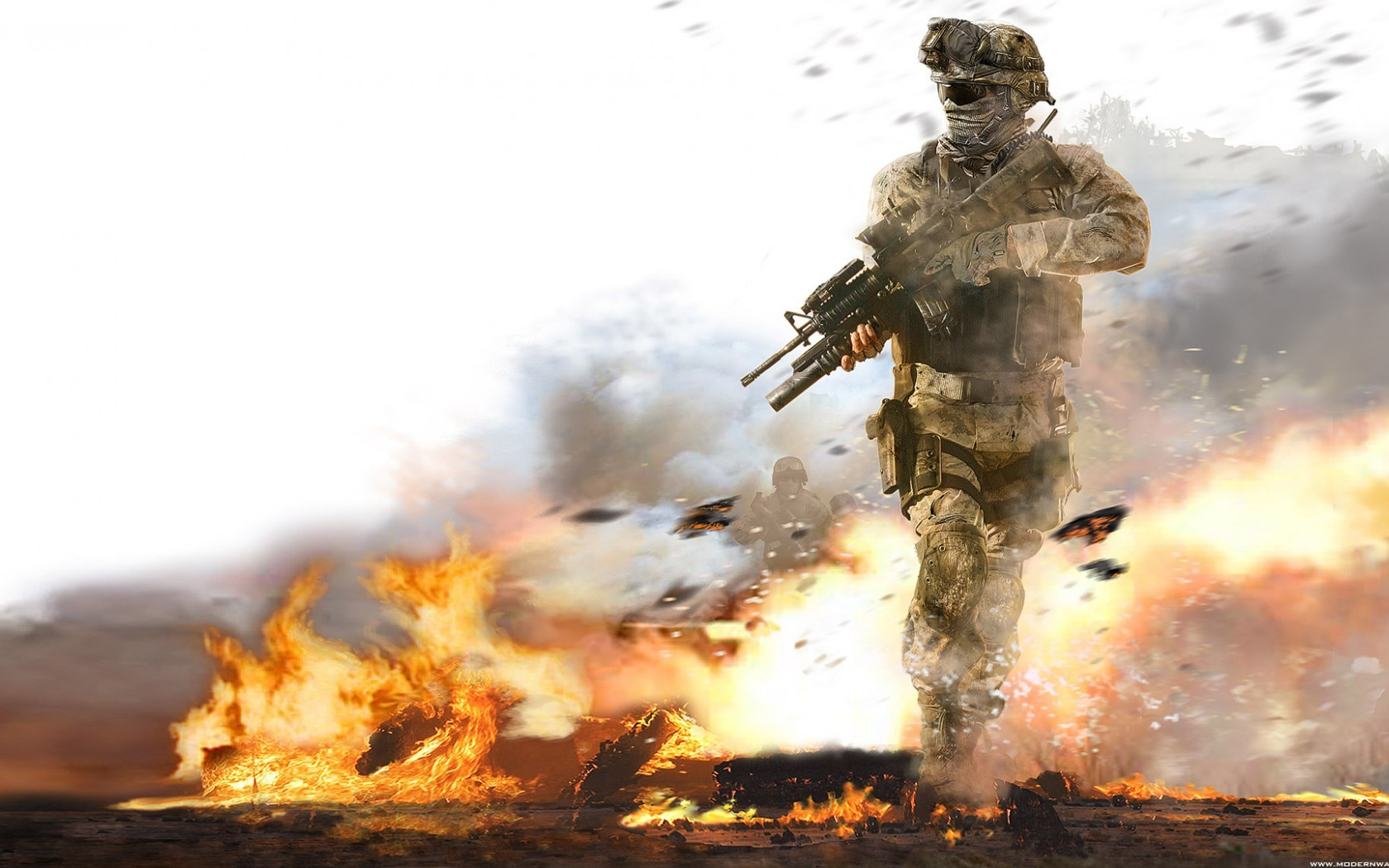 War fire smoke call HD Wallpaper