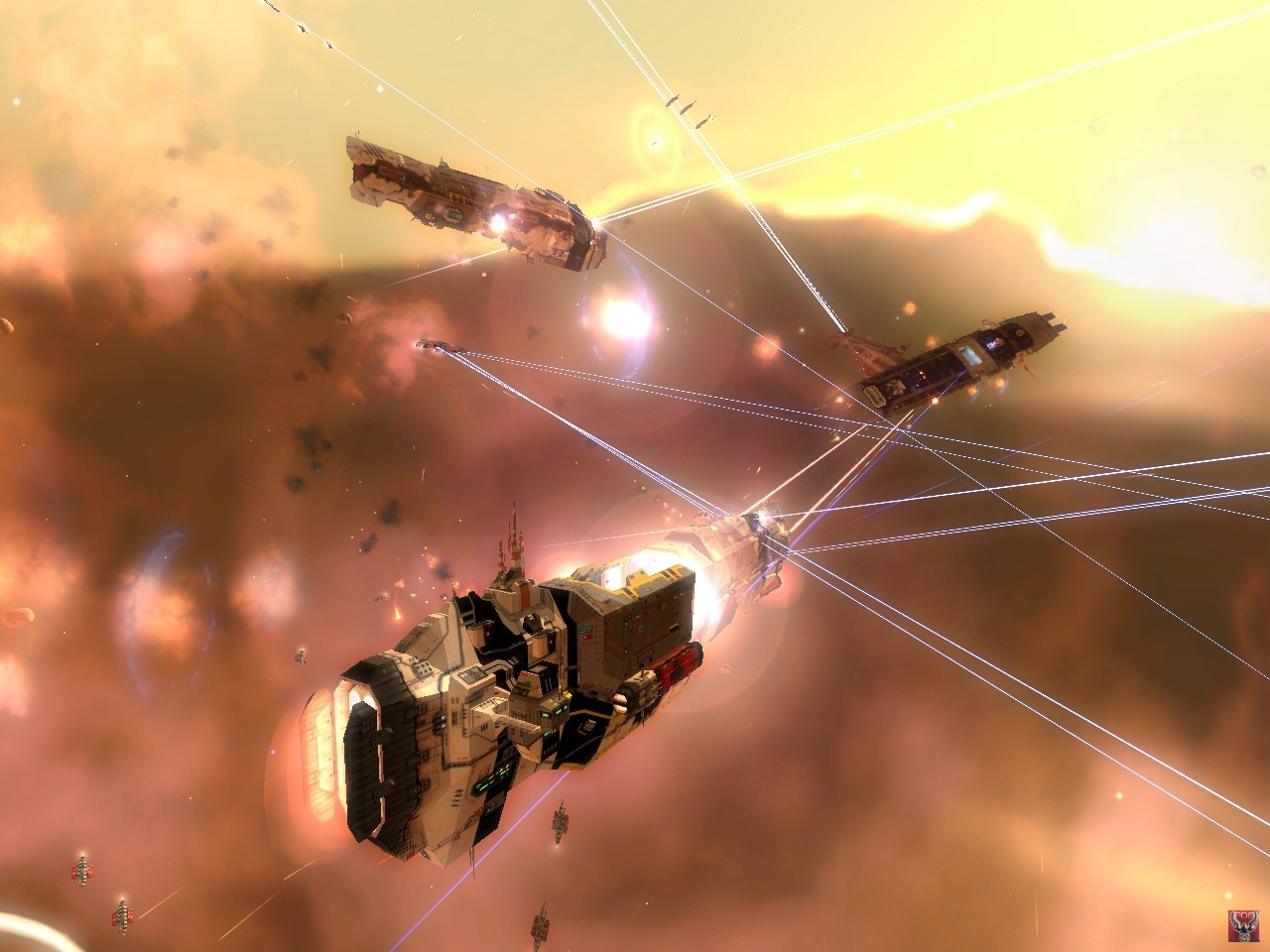 War ships homeworld Space HD Wallpaper