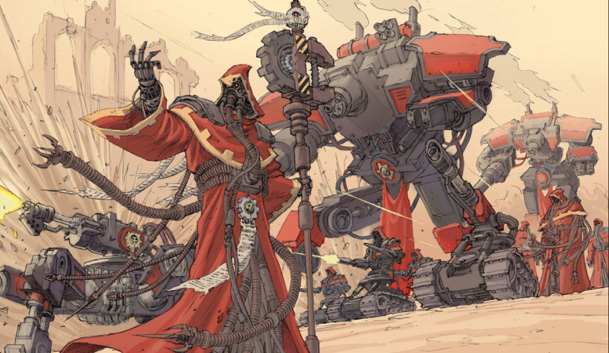 warhammer Adeptus mechanicus game HD Wallpaper