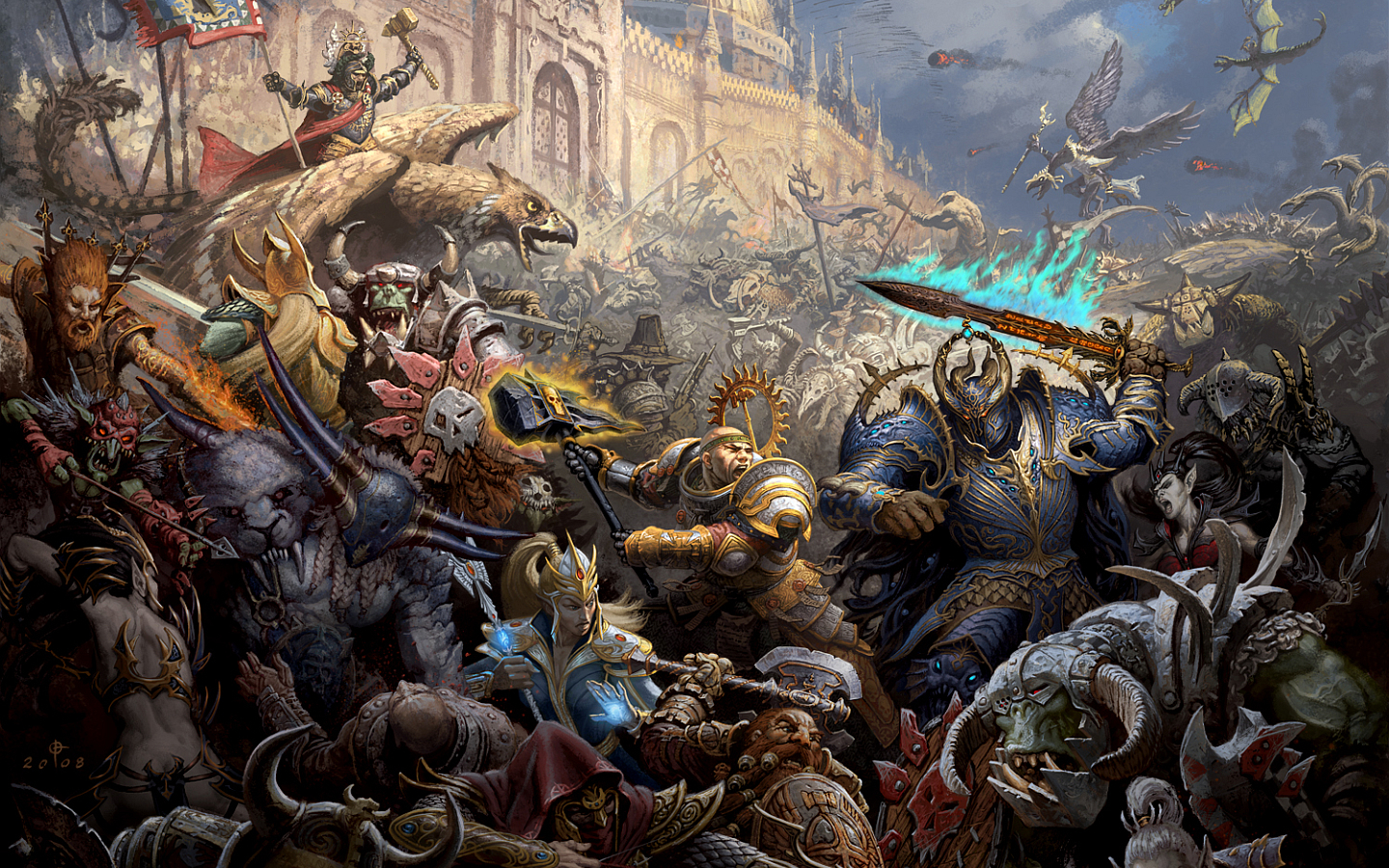 warhammer Characters game HD Wallpaper