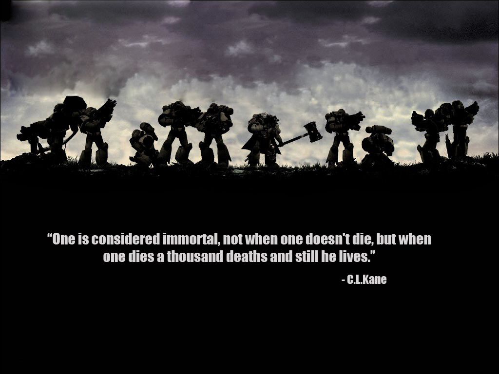 warhammer Quotes Space Marines HD Wallpaper