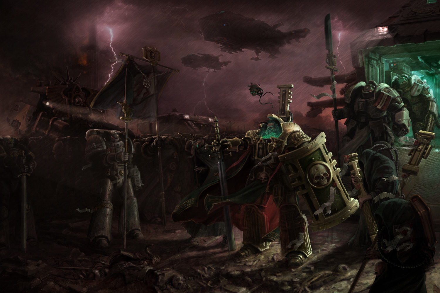 warhammer Space Marines inquisition HD Wallpaper