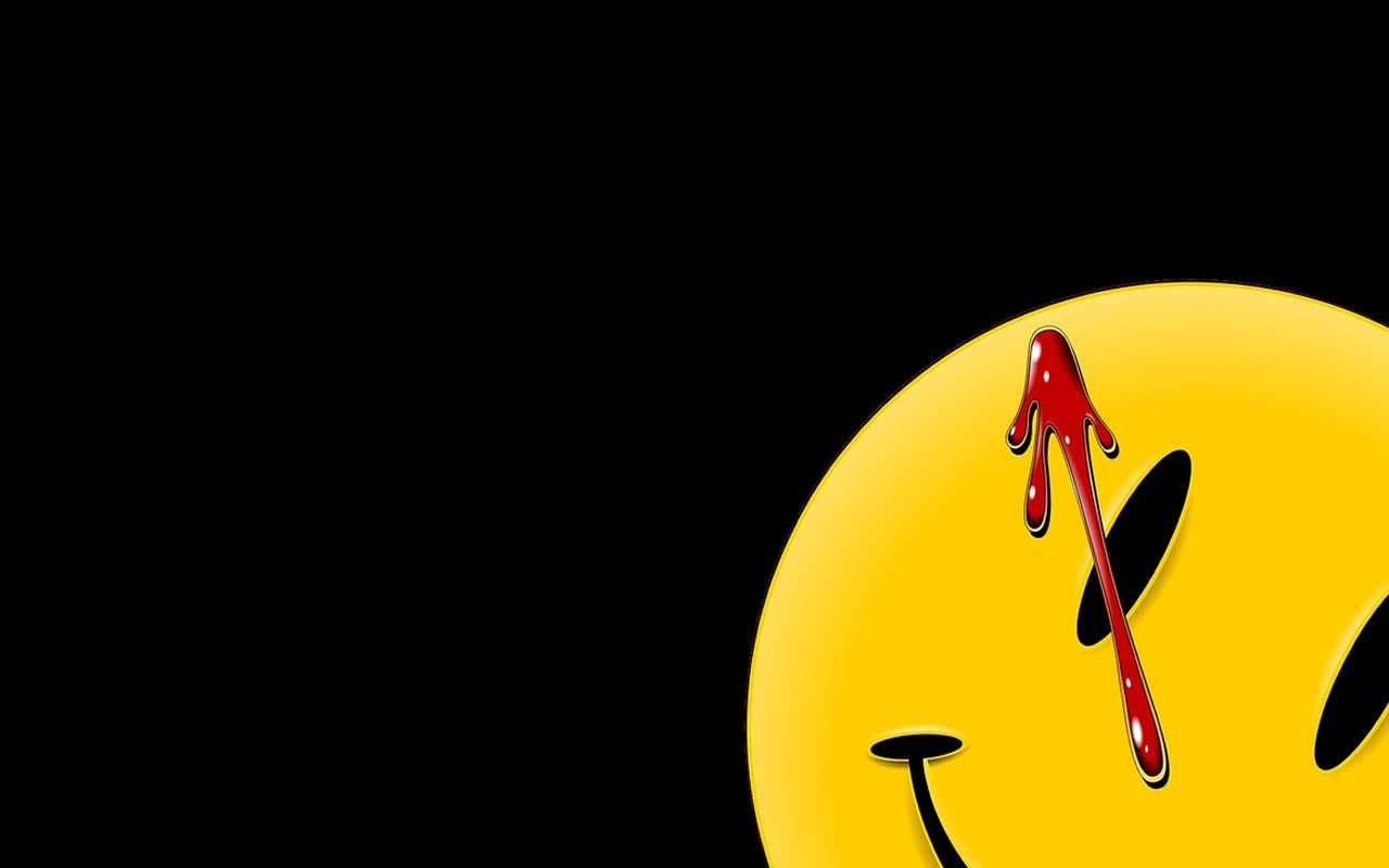 Watchmen Movies blood smiley HD Wallpaper