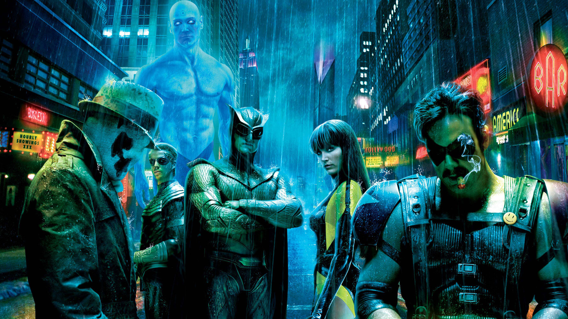 Watchmen Rorschach Silk Spectre HD Wallpaper