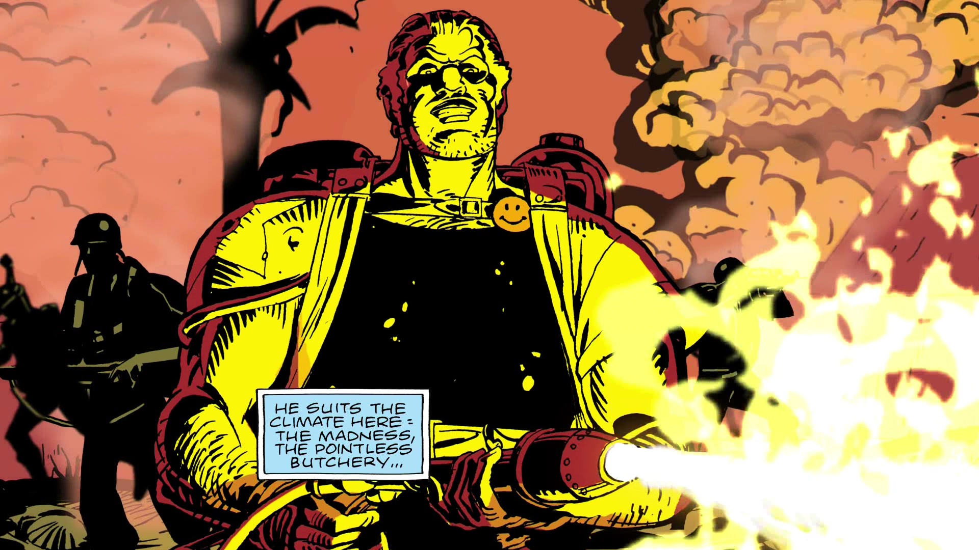 http://onlyhdwallpapers.com/thumbnail/watchmen_comics_flamethrower_the_comedian_desktop_1920x1080_wallpaper-276588.jpg