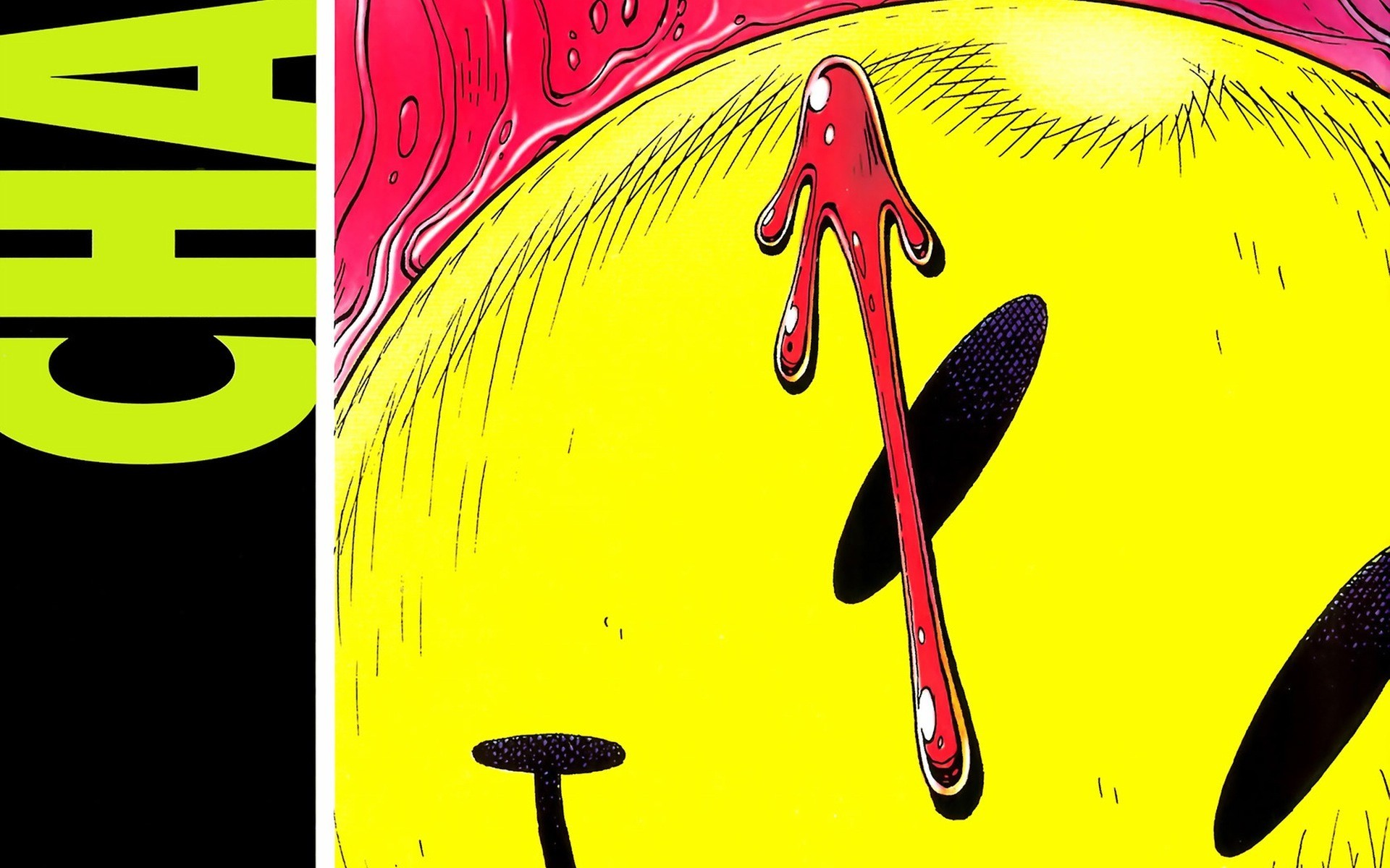Watchmen yellow comics smiley HD Wallpaper