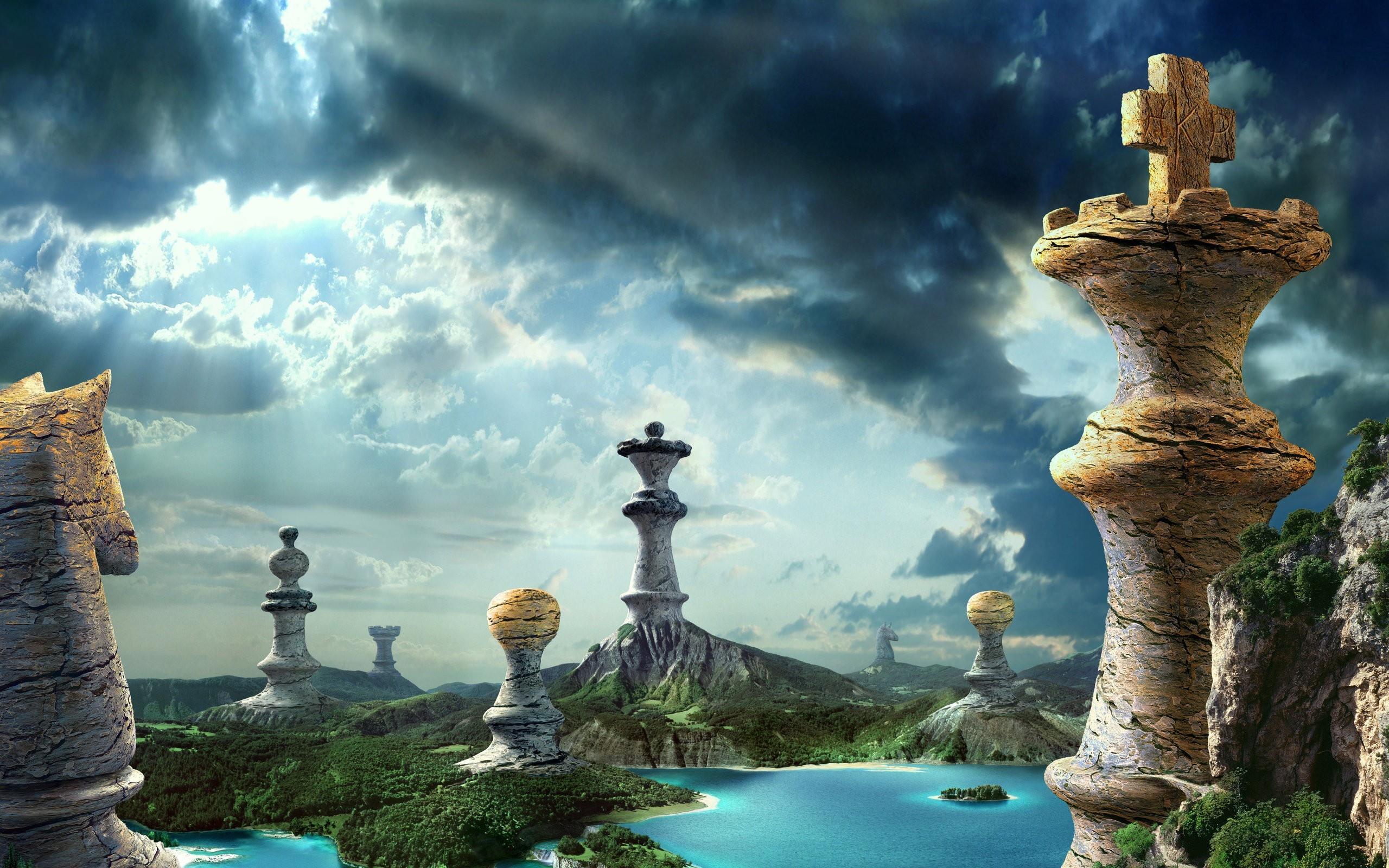 water clouds nature Castles HD Wallpaper