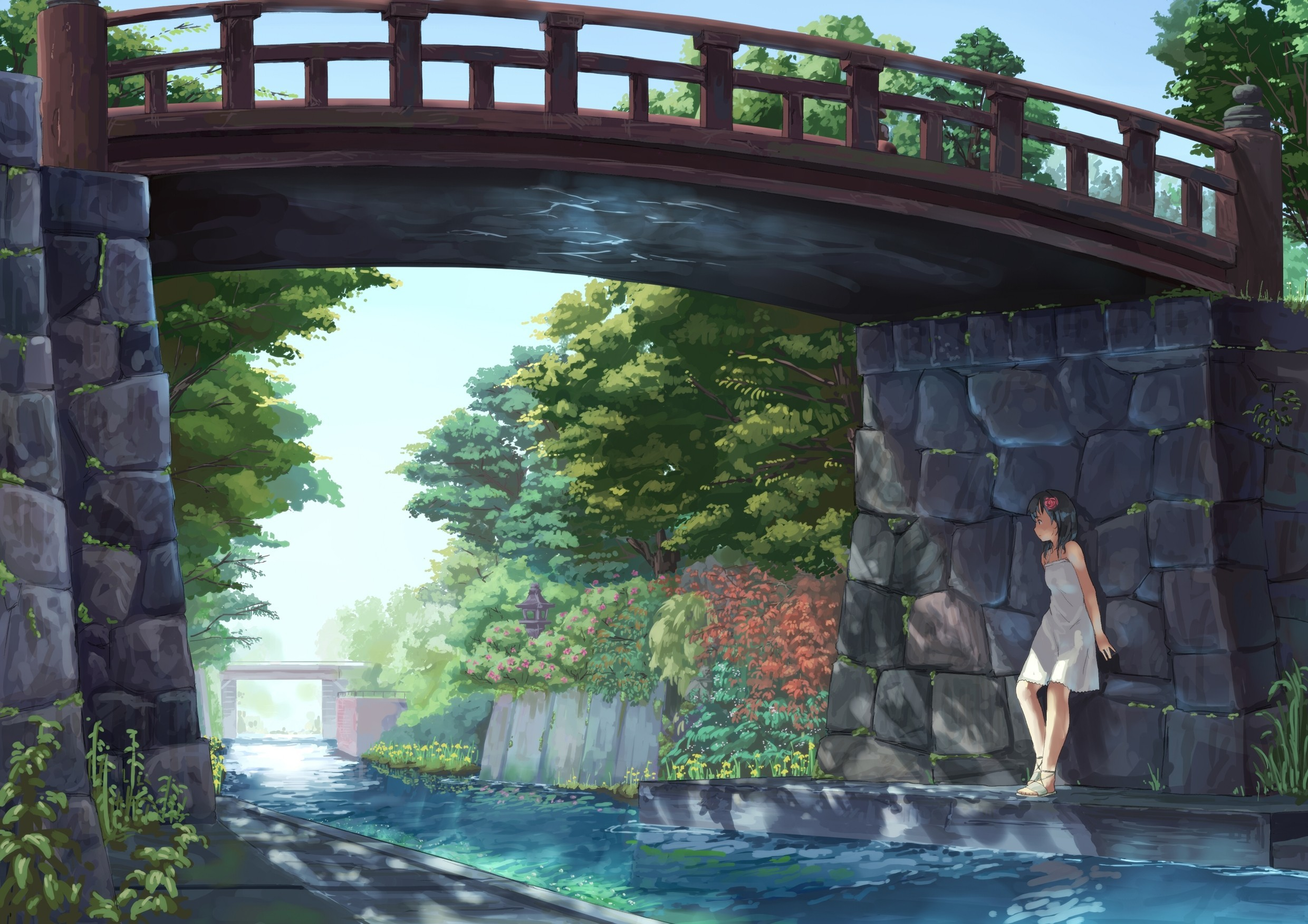 water dress summer Bridges HD Wallpaper
