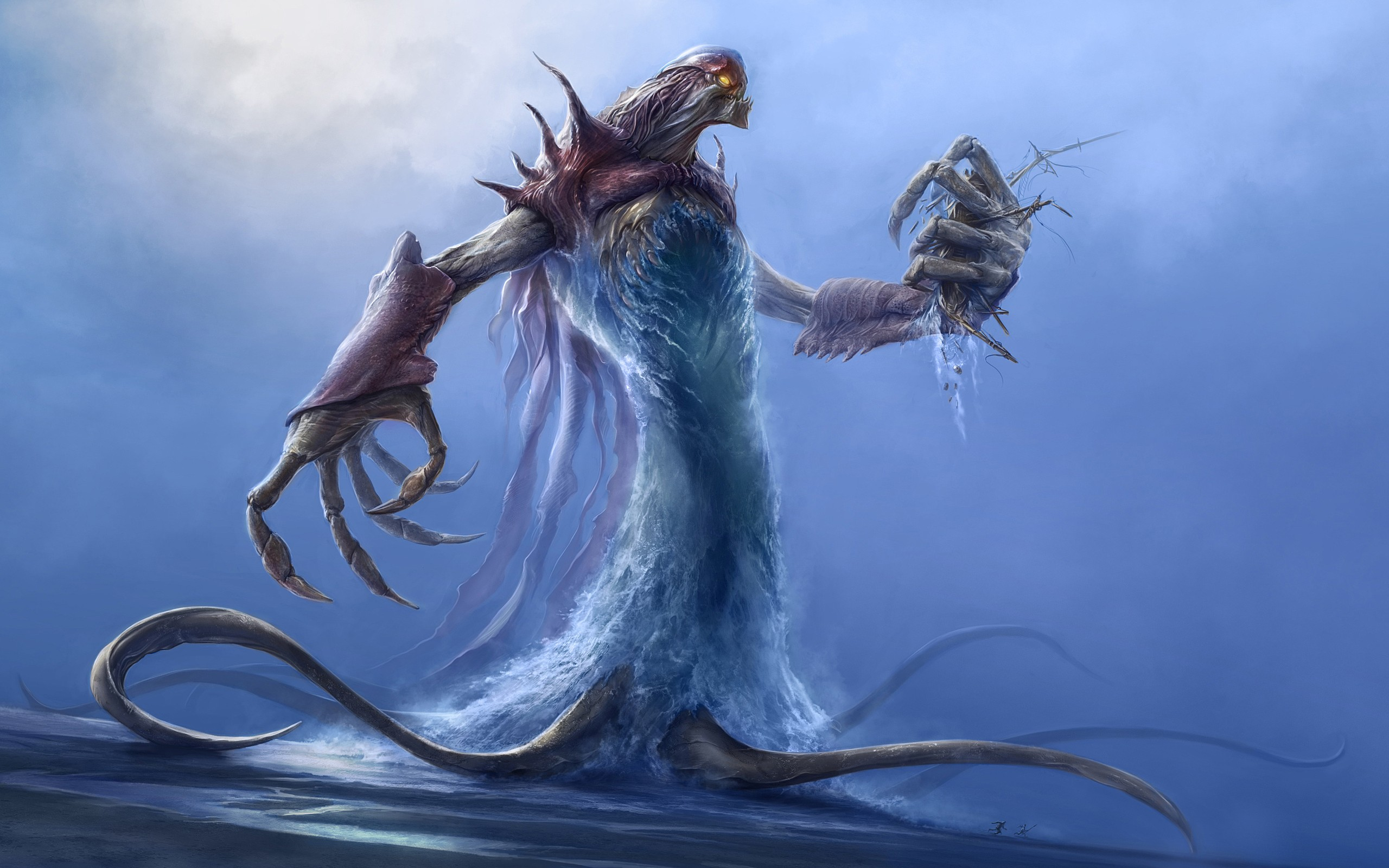 water Monsters demons tentacles HD Wallpaper