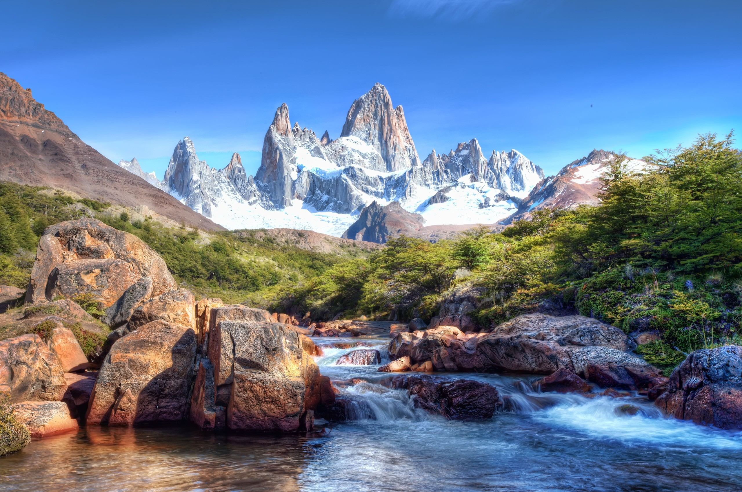water Mountains Landscapes nature HD Wallpaper