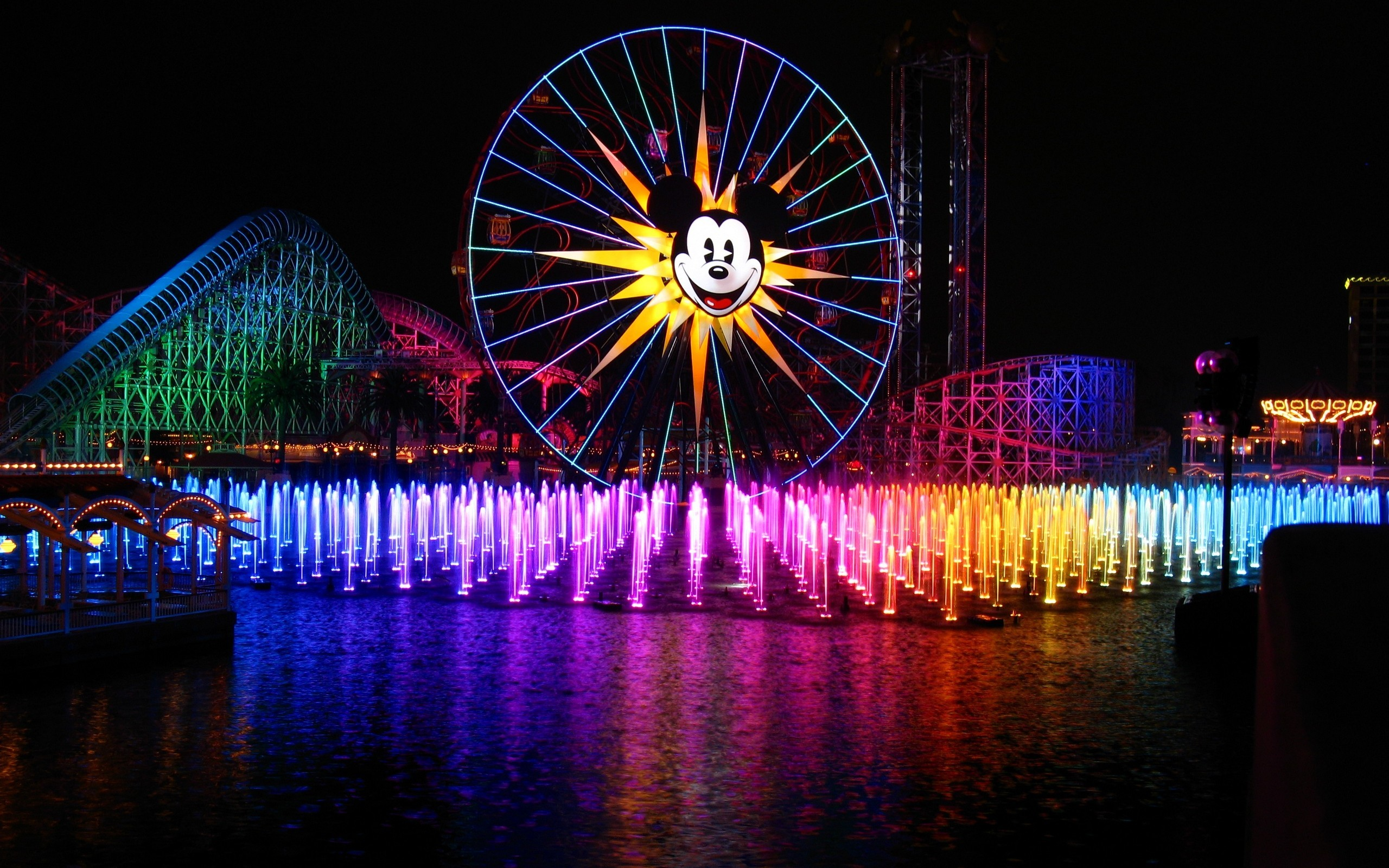 water multicolor mickey mouse HD Wallpaper