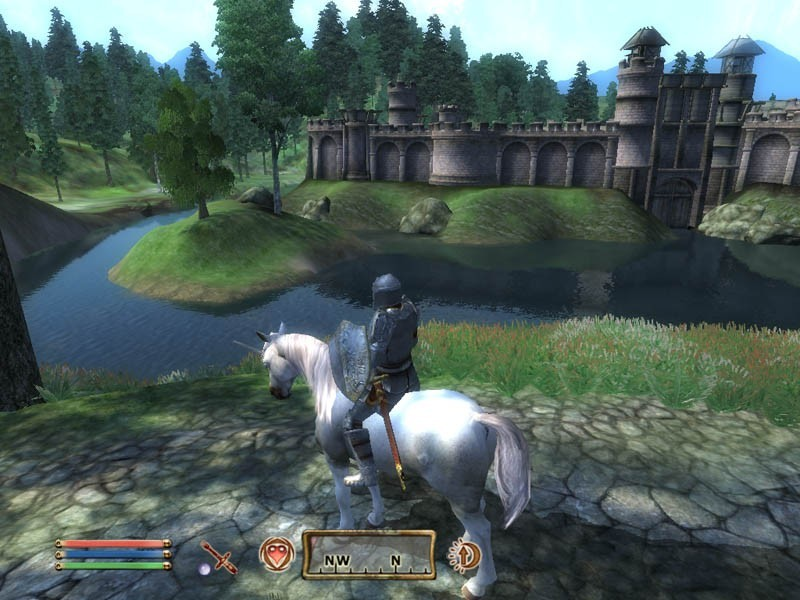 water the elder scrolls unicorns screenshots HD Wallpaper