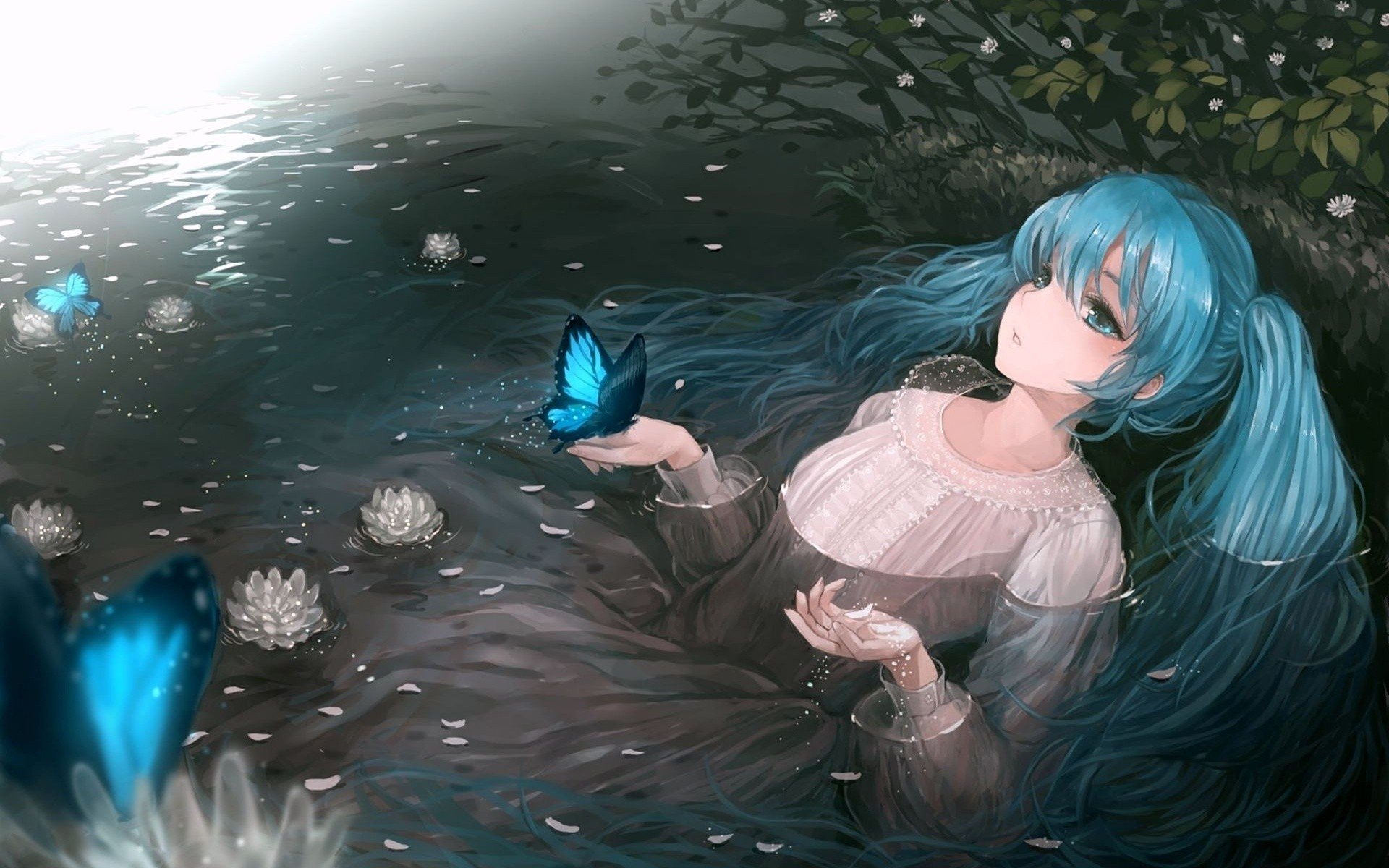 water vocaloid hatsune miku HD Wallpaper