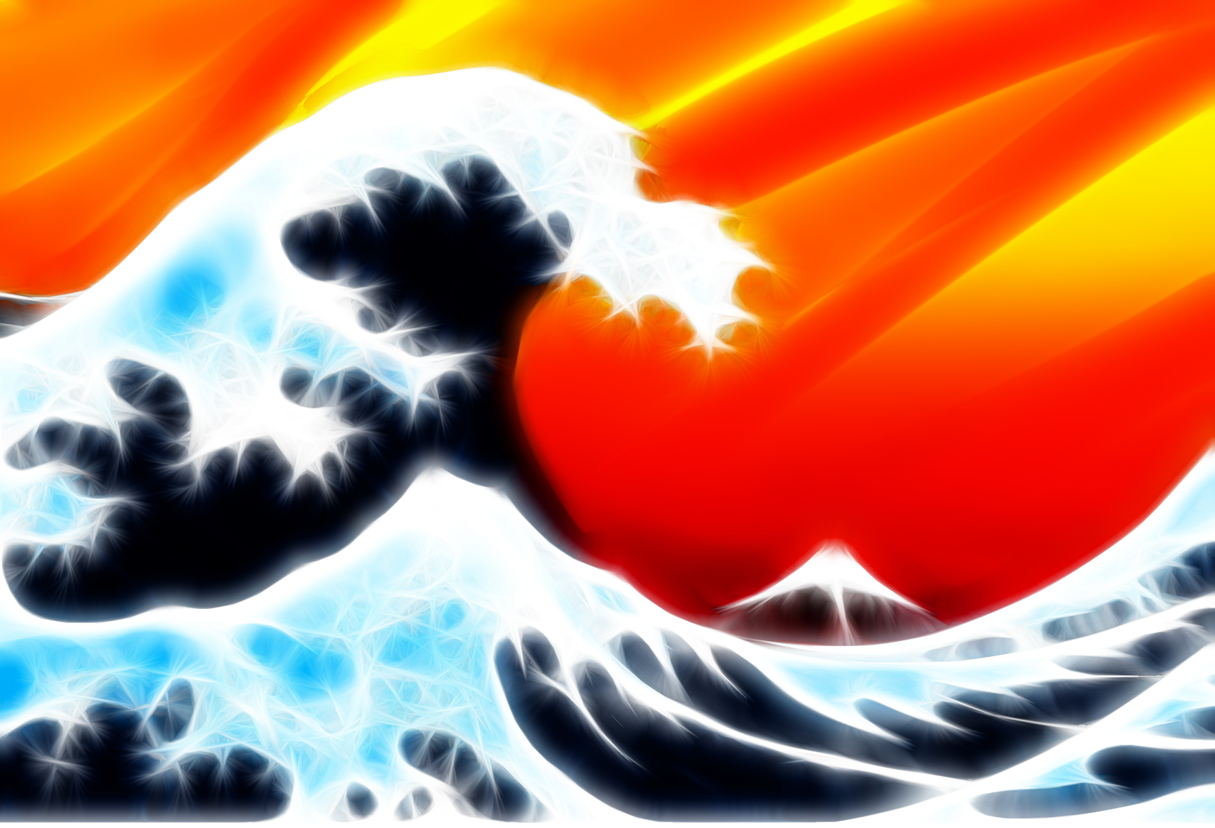 waves Fractalius The great HD Wallpaper