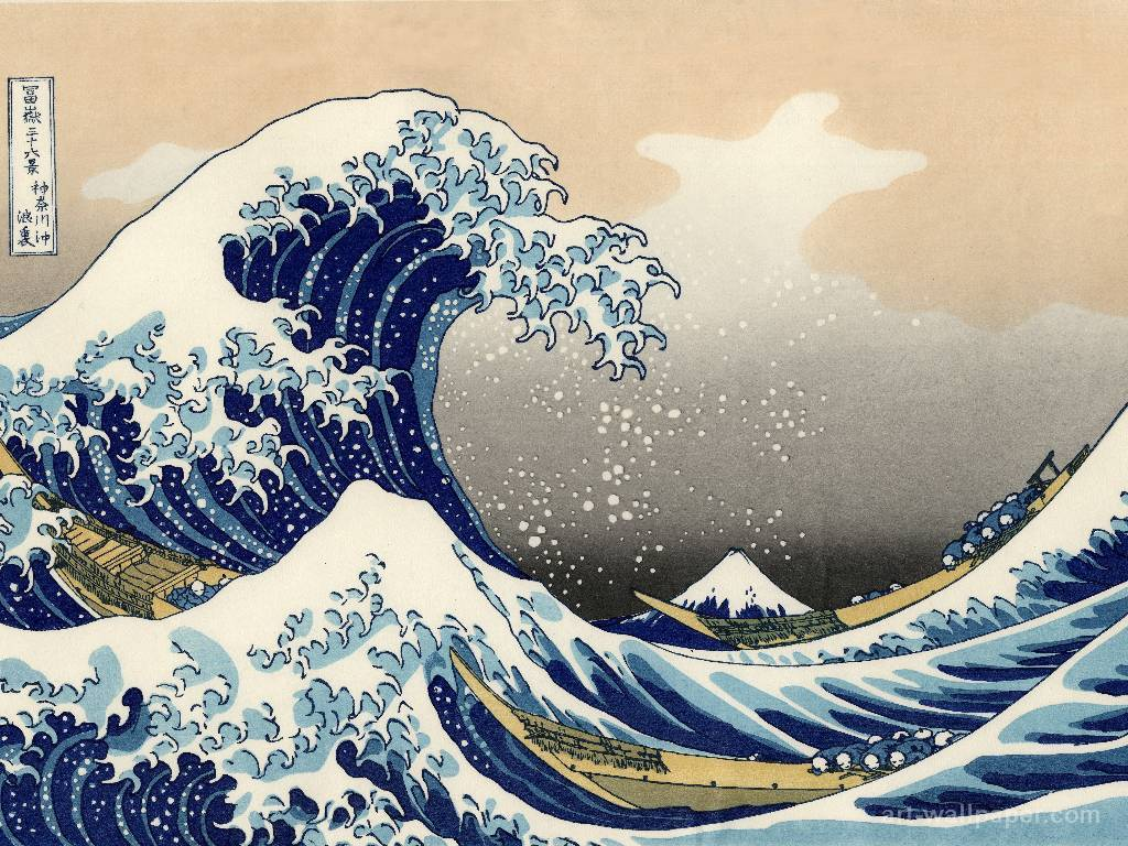 waves The great wave HD Wallpaper