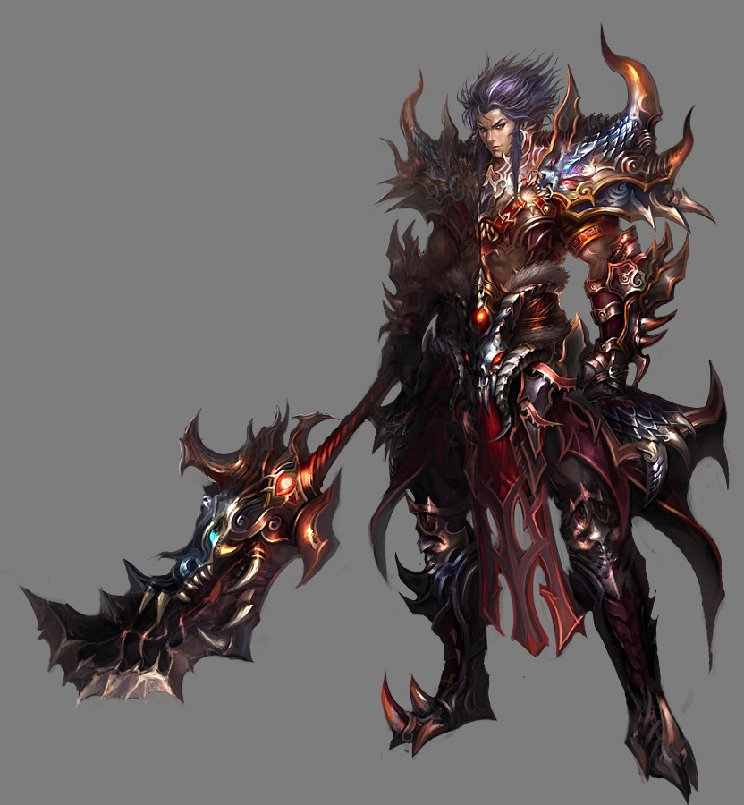 weapons armor Demonic artwork HD Wallpaper