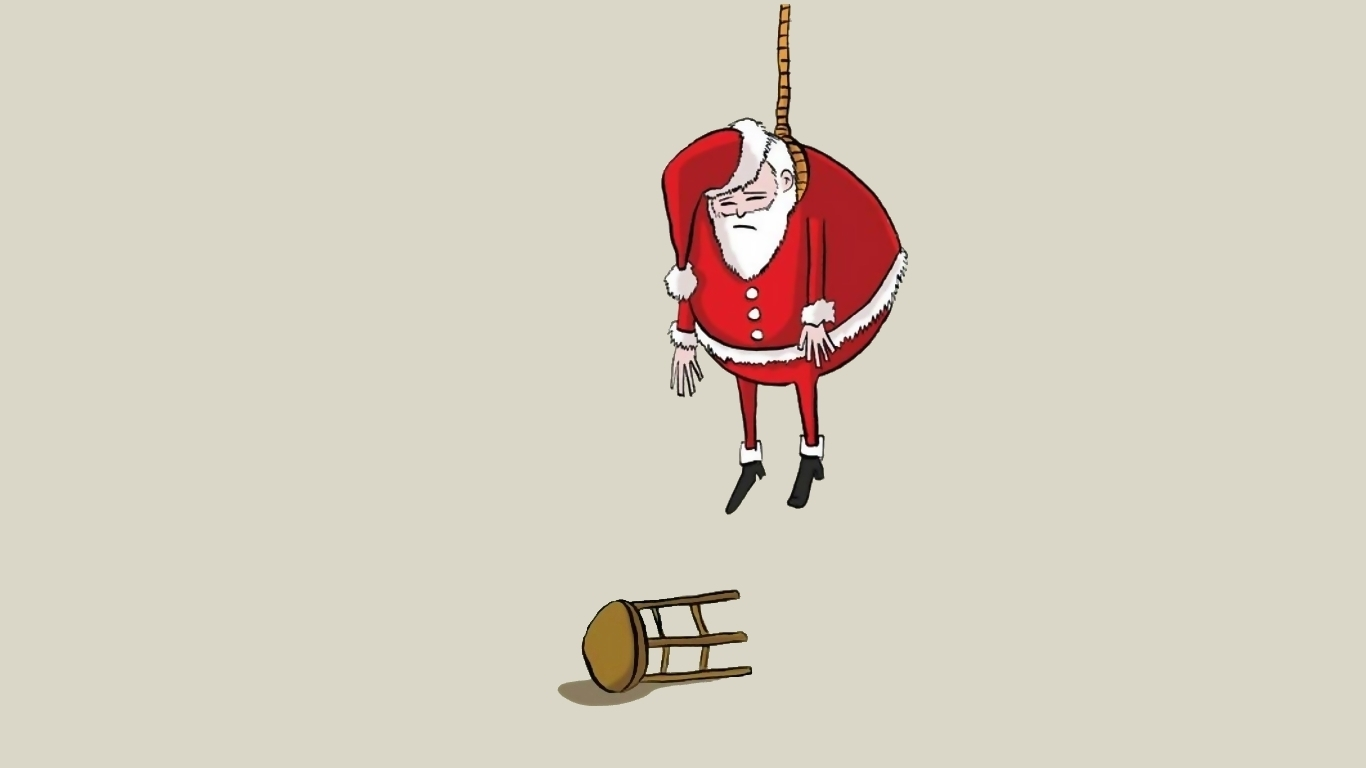 weird suicide hanging Christmas HD Wallpaper