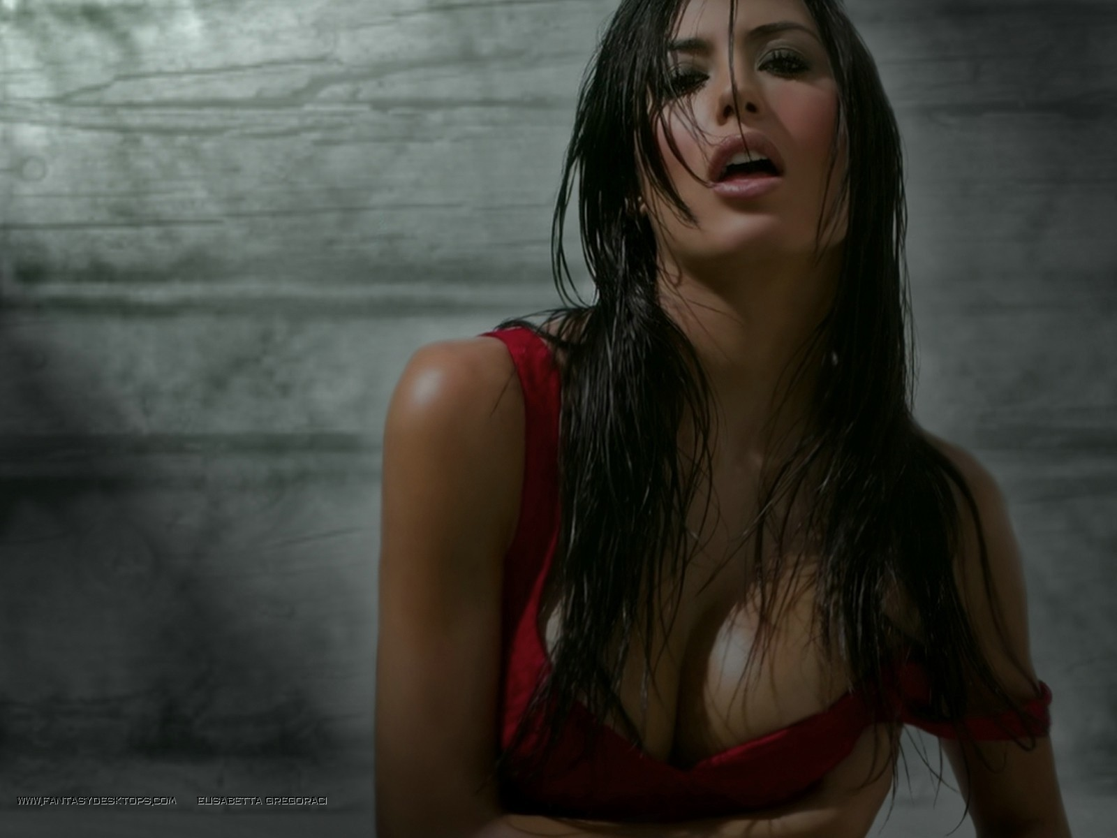 wet Elisabetta Gregoraci wet HD Wallpaper